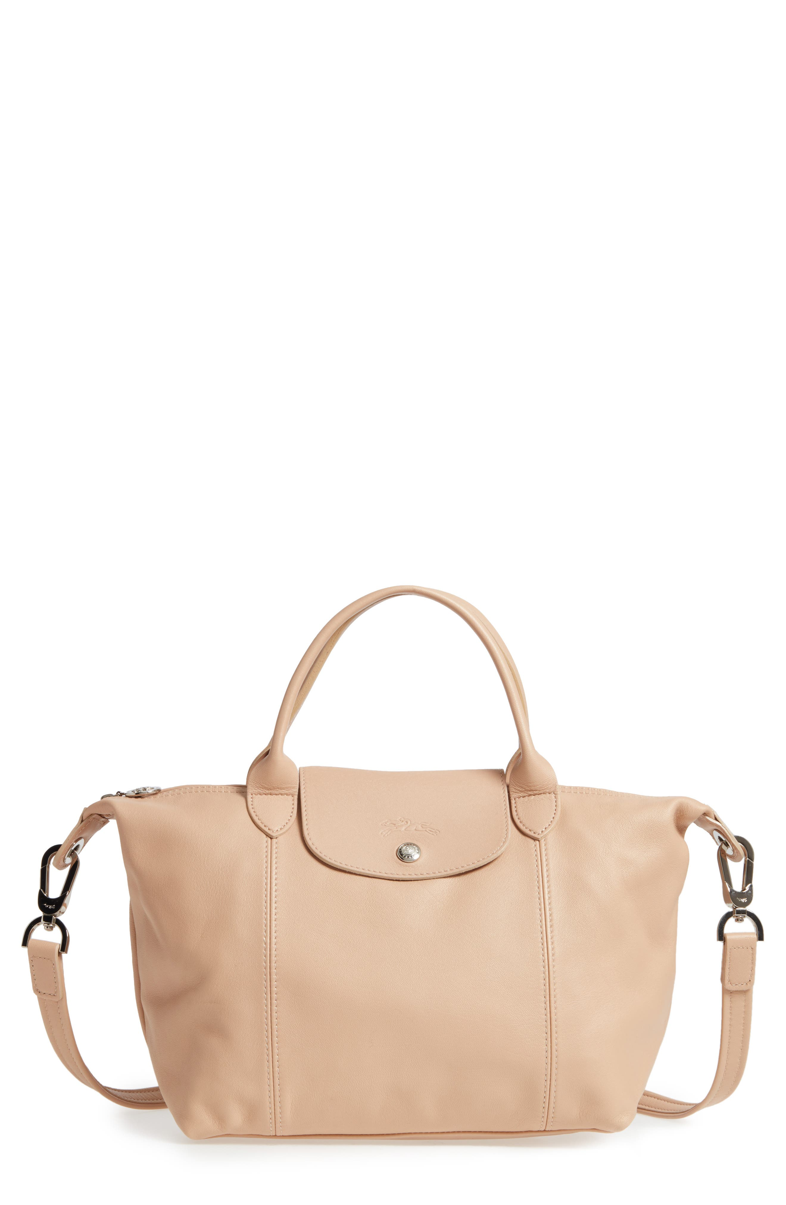 Small 'Le Pliage Cuir' Leather Top Handle Tote,                             Main thumbnail 3, color,