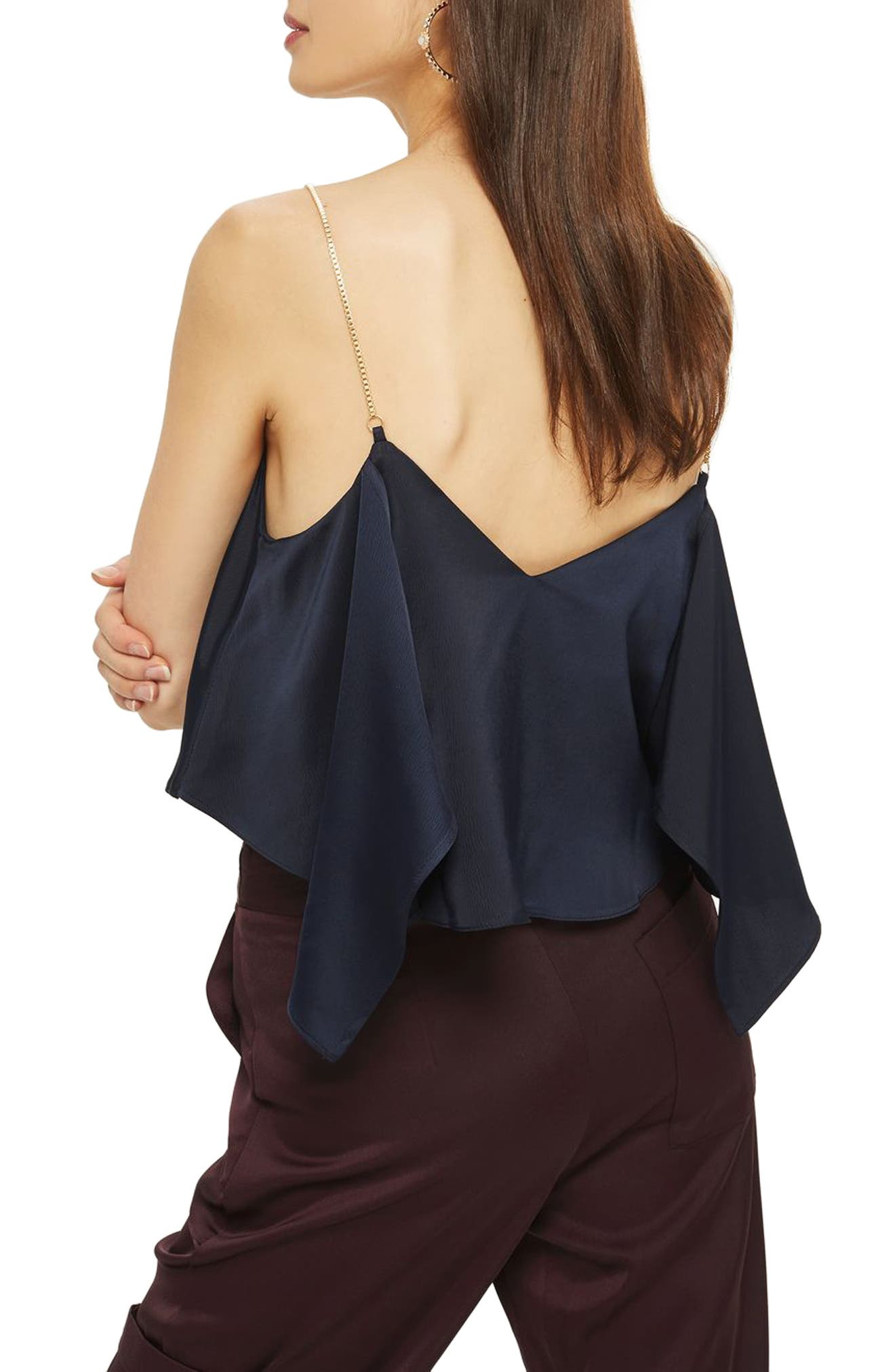 Chain Strap Camisole Top,                             Alternate thumbnail 8, color,