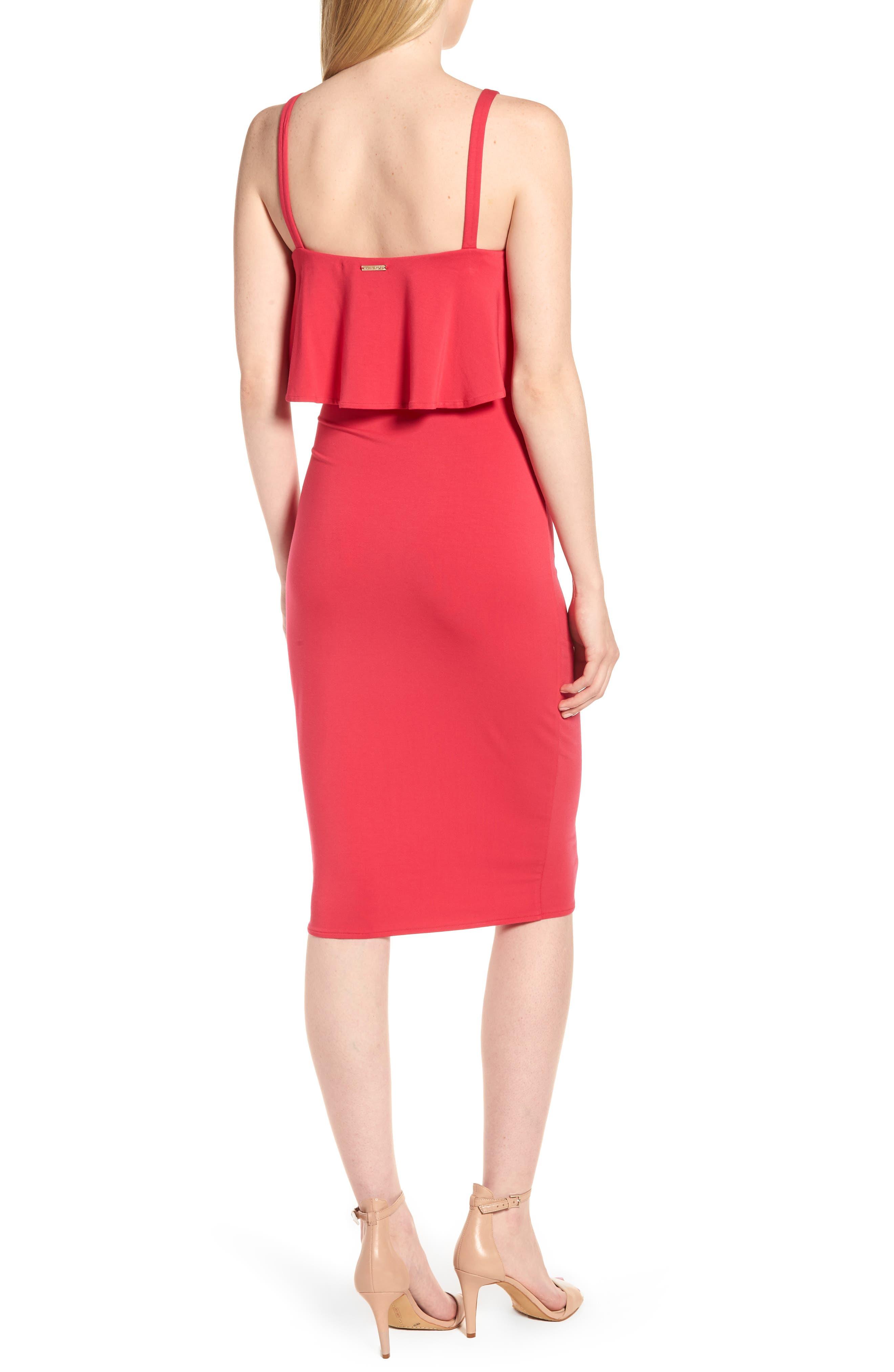 Flounce Front Dress,                             Alternate thumbnail 4, color,