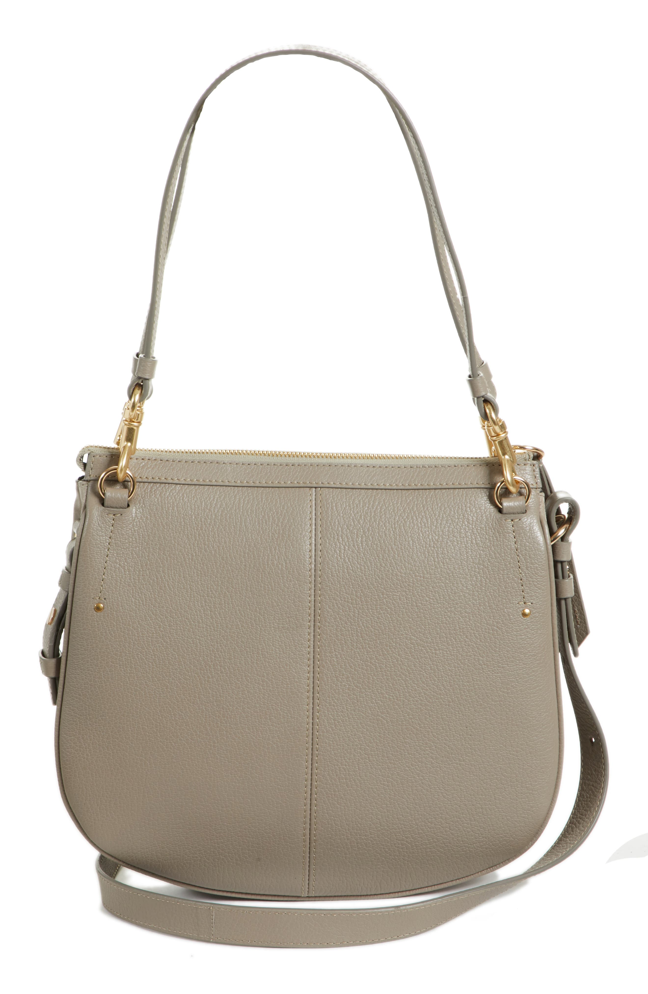 Hana Leather Shoulder Bag,                             Alternate thumbnail 6, color,