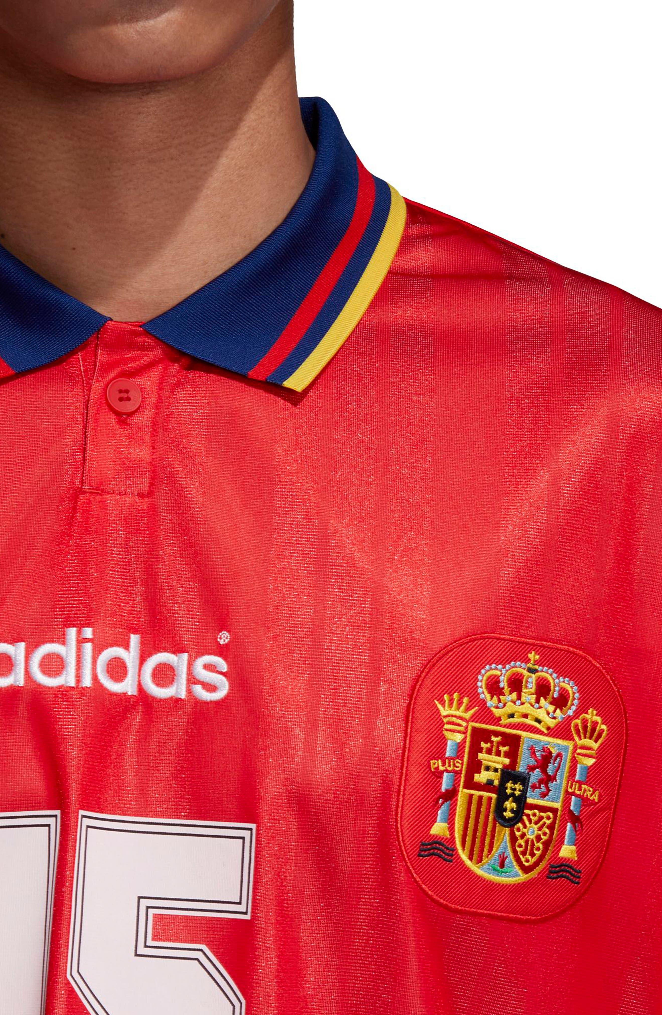 adidas Original Spain 1994 Soccer Jersey,                             Alternate thumbnail 5, color,                             625