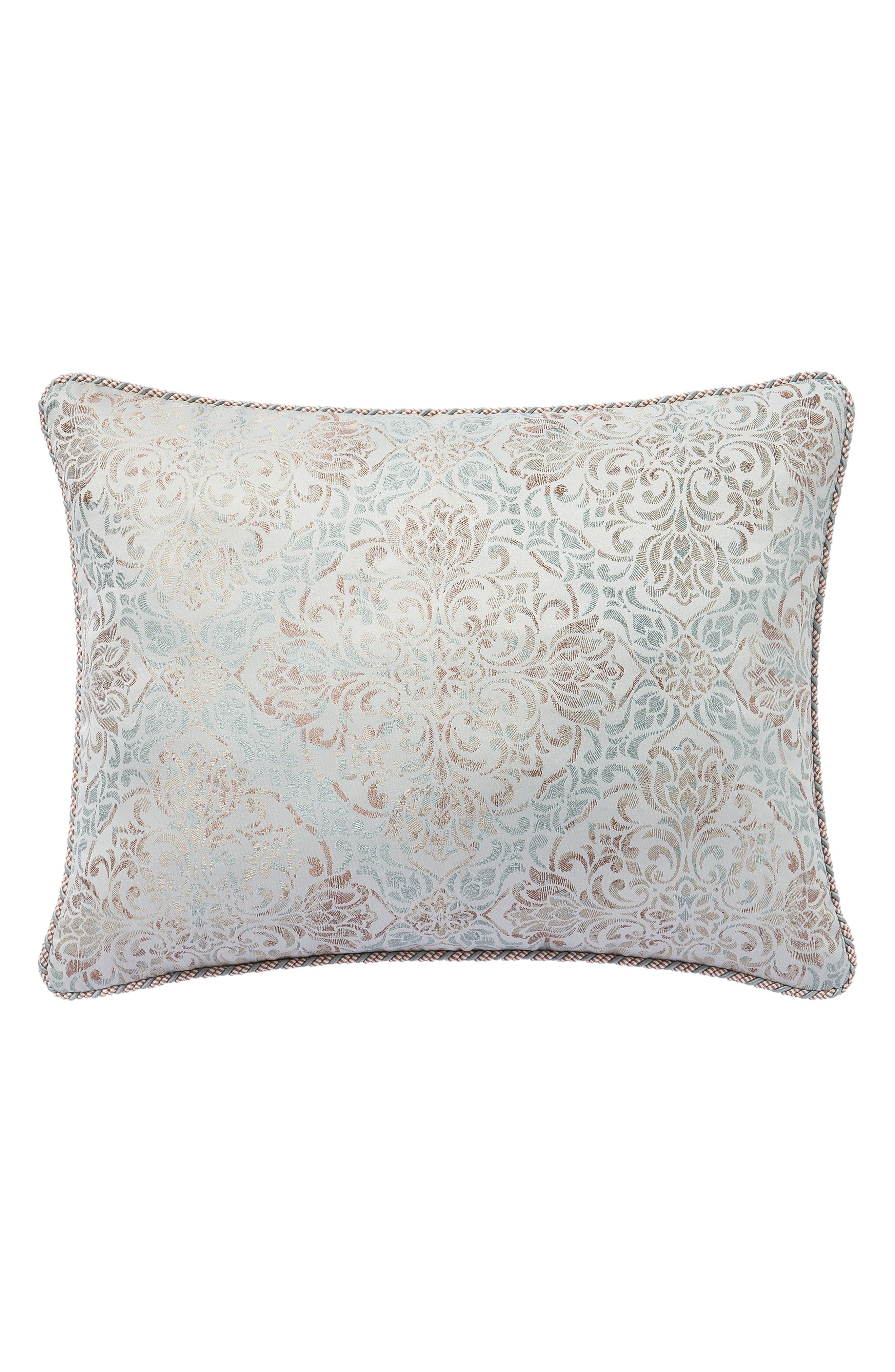 Gwyneth Reversible Comforter, Sham & Bedskirt Set,                             Alternate thumbnail 5, color,                             PALE BLUE