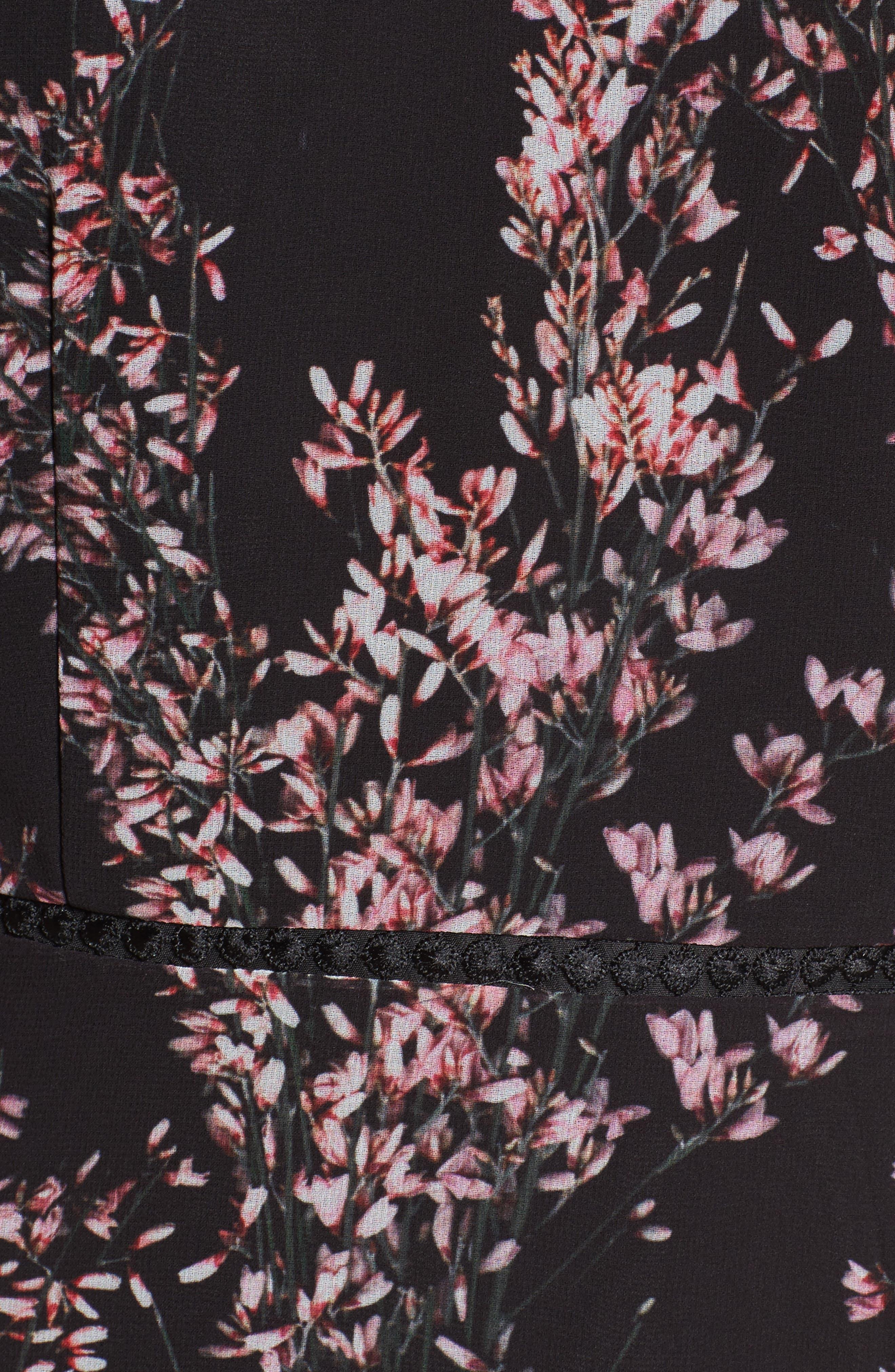 Light Up Ruffle Minidress,                             Alternate thumbnail 5, color,                             001