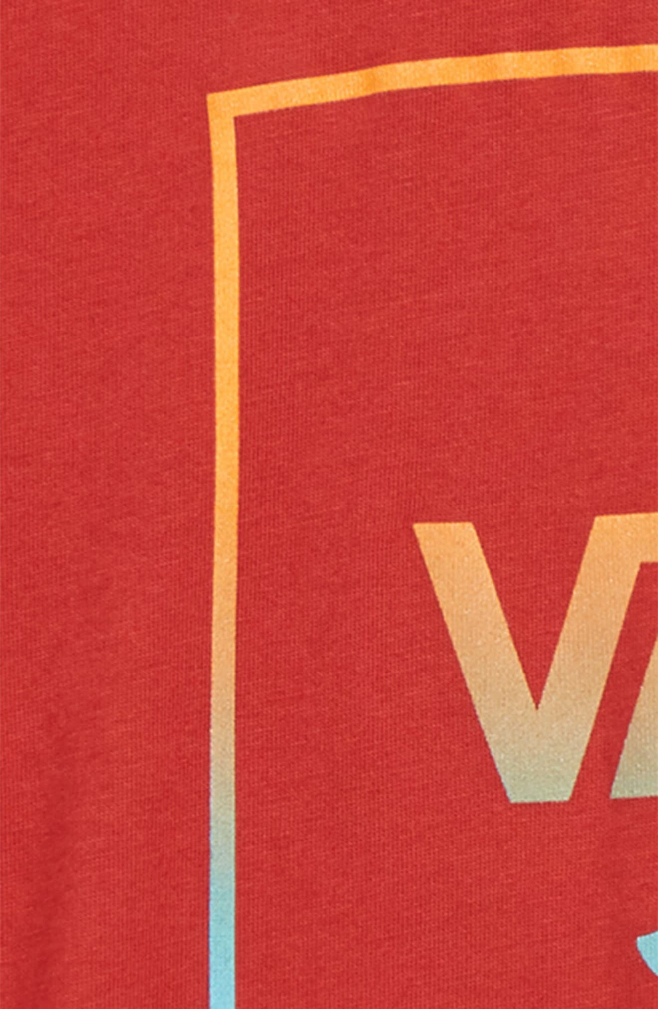 Print Box Graphic T-Shirt,                             Alternate thumbnail 2, color,                             CHILI PEPPER