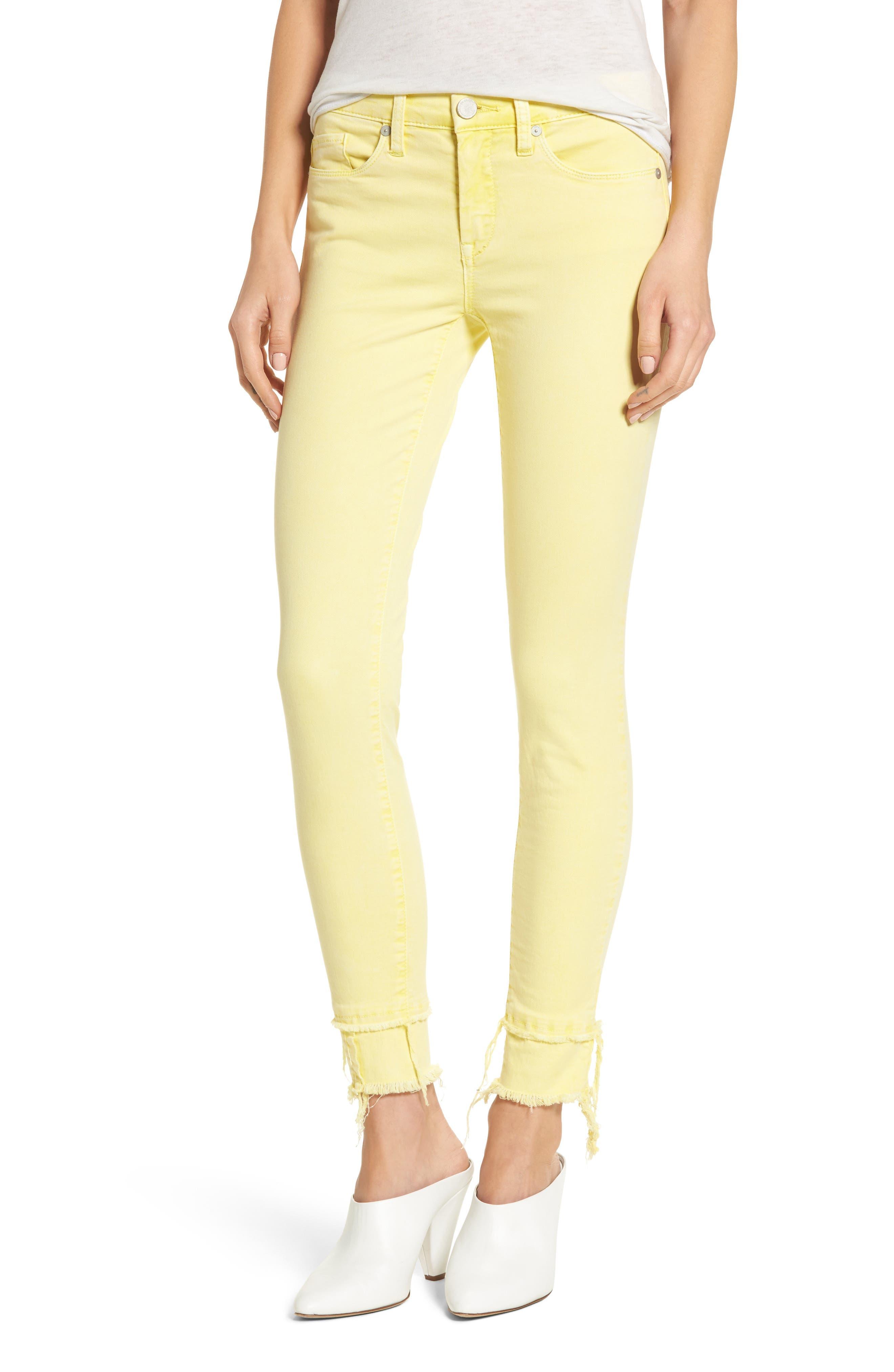 The Reade Classic Crop Raw Edge Double Hem Jeans,                         Main,                         color,