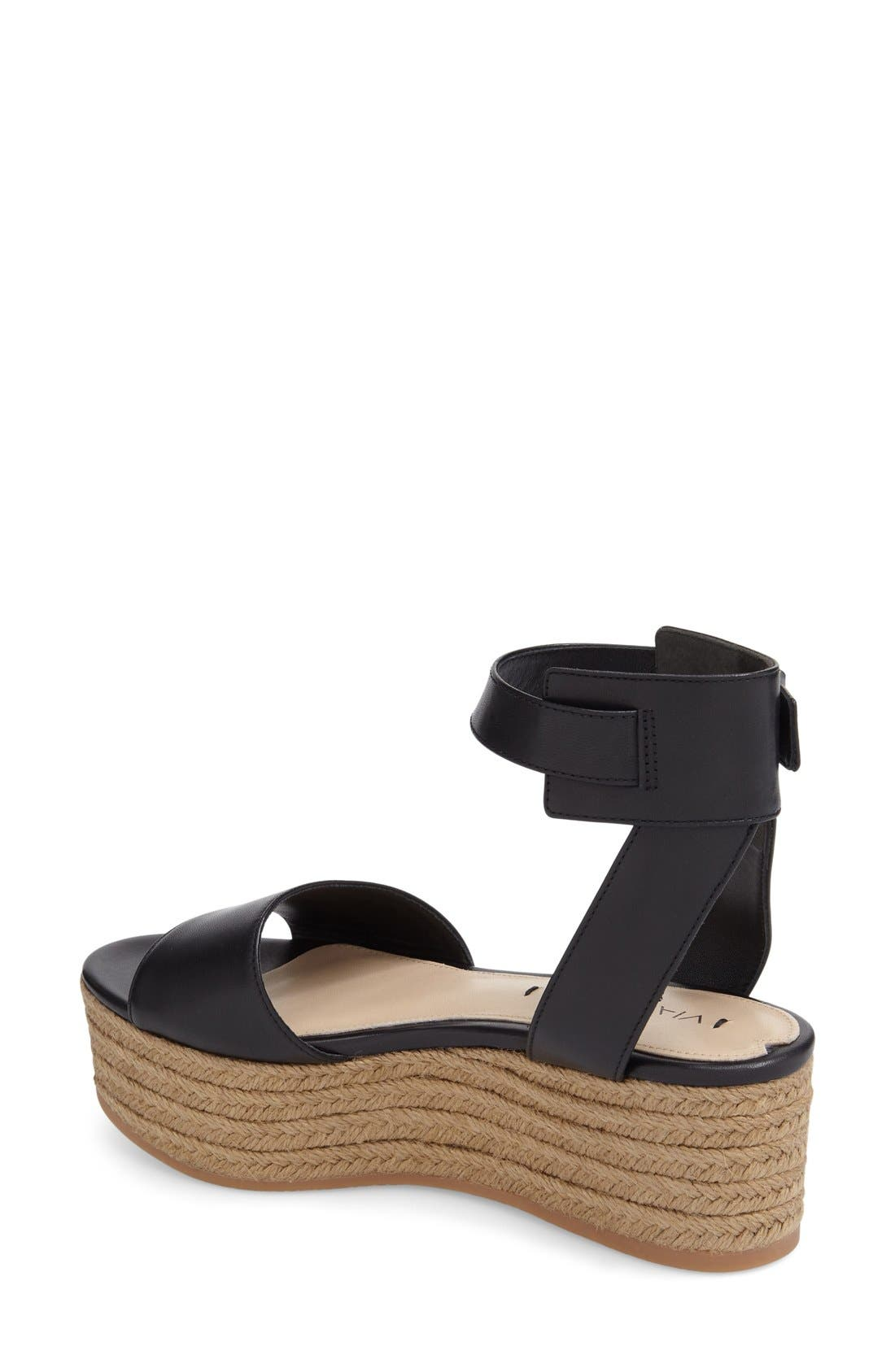 'Nemy' Platform Sandal,                             Alternate thumbnail 2, color,                             001
