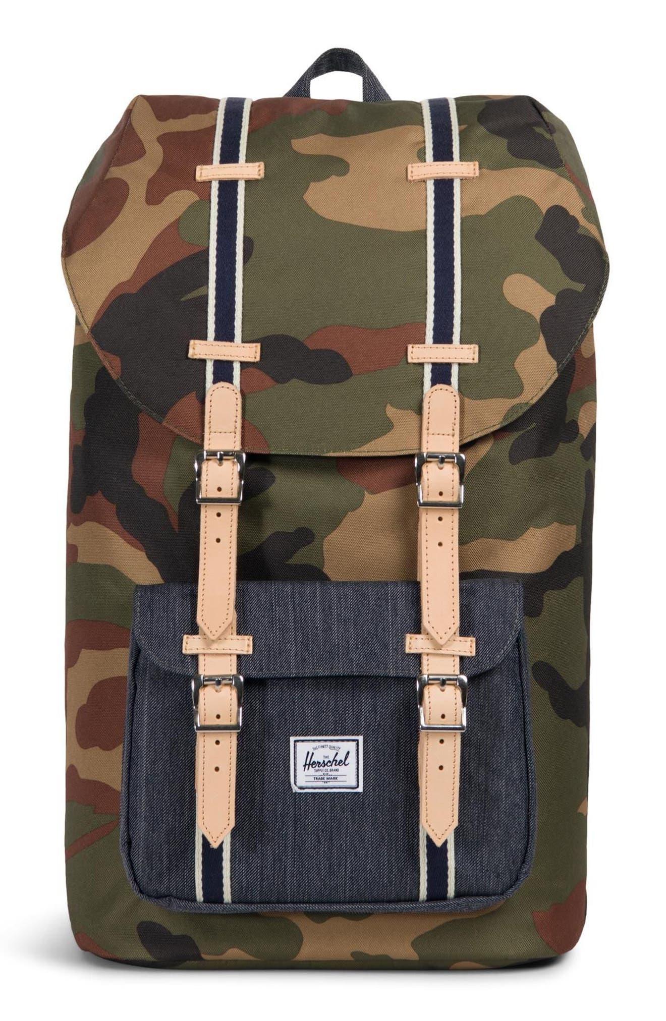Herschel Supply Co. Little America Offset Backpack - Green