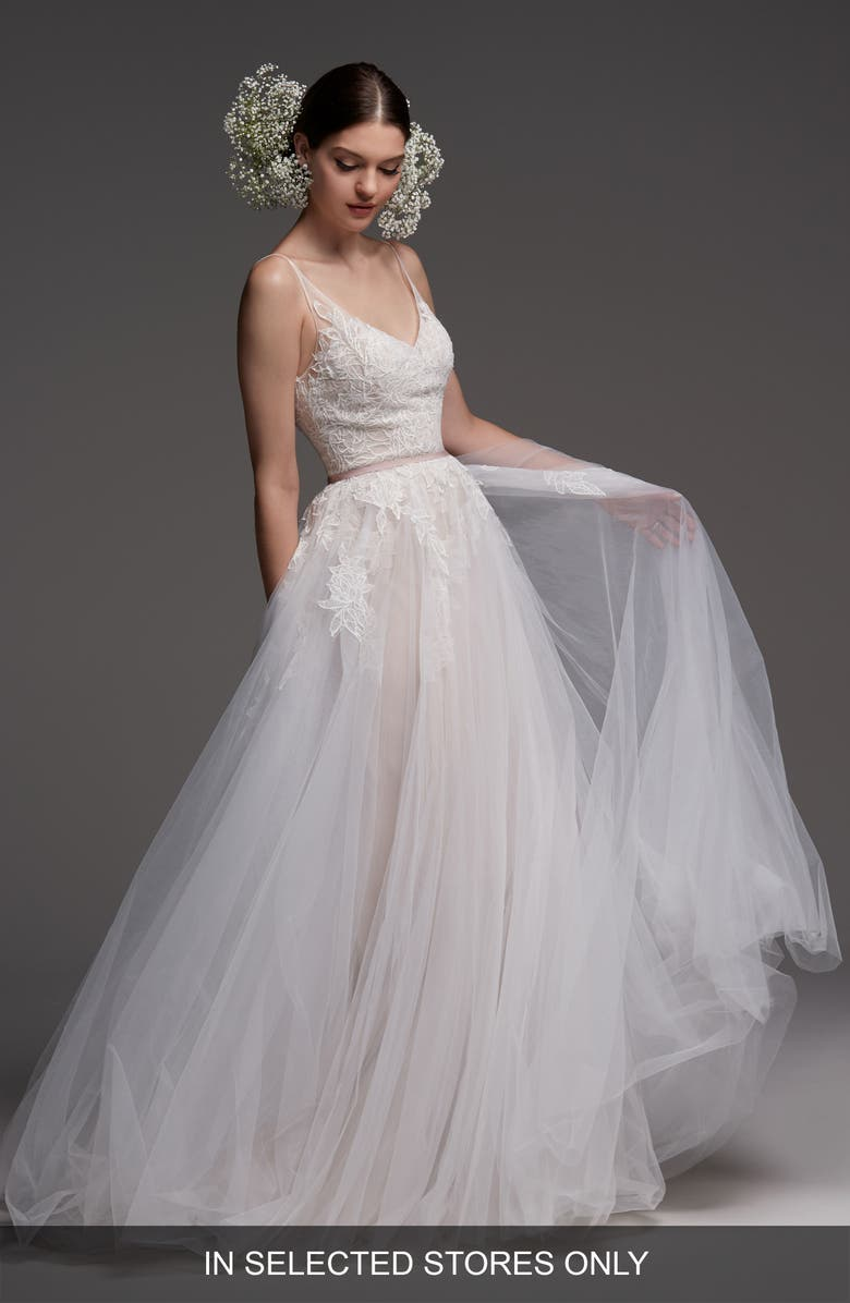 Watters Avignon Lace   Tulle A-Line Gown  b4841afcf