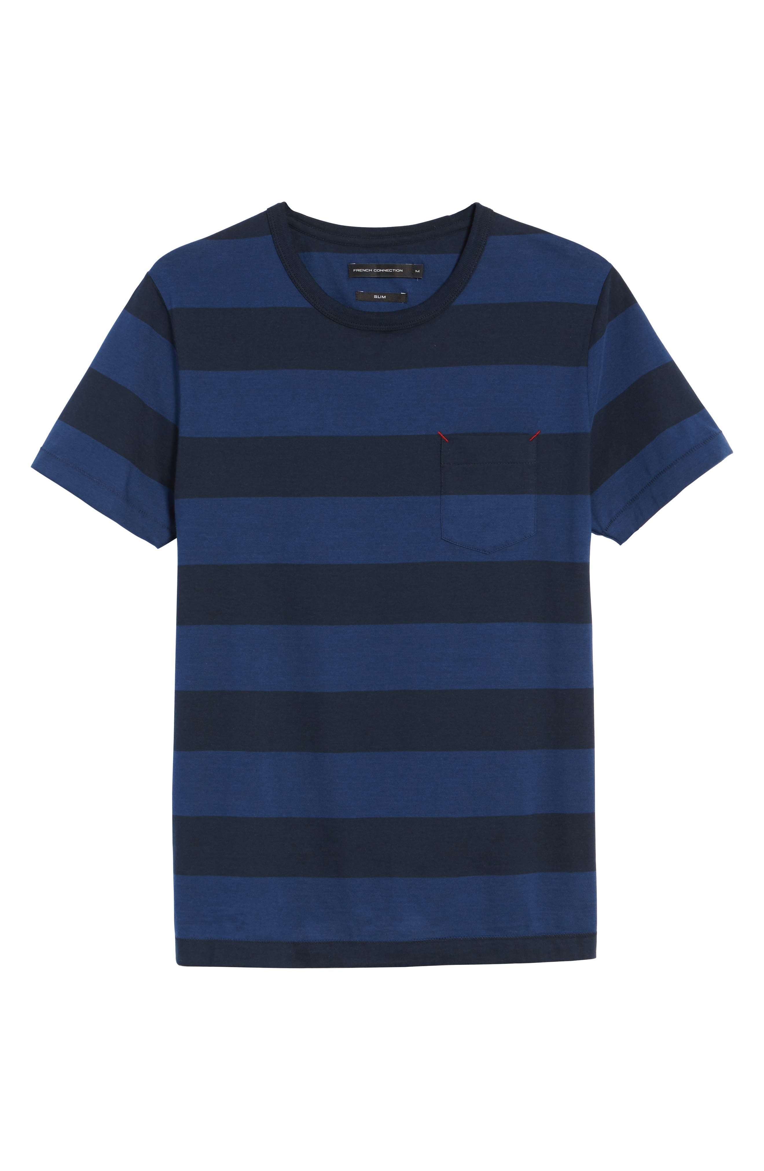 Varsity View Stripe Slim T-Shirt,                             Alternate thumbnail 6, color,                             415
