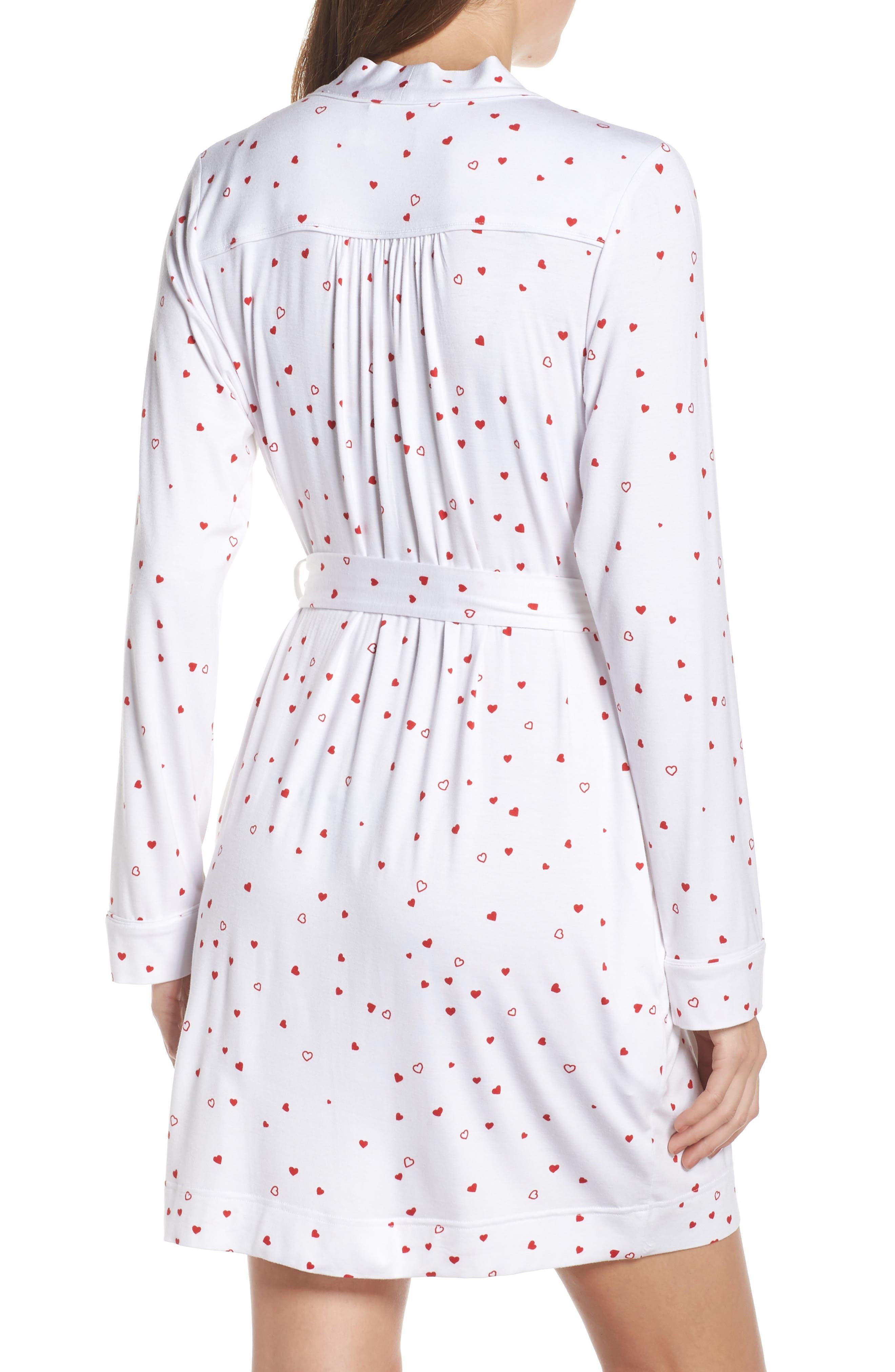 Aldridge Robe,                             Alternate thumbnail 2, color,                             WHITE/ RED