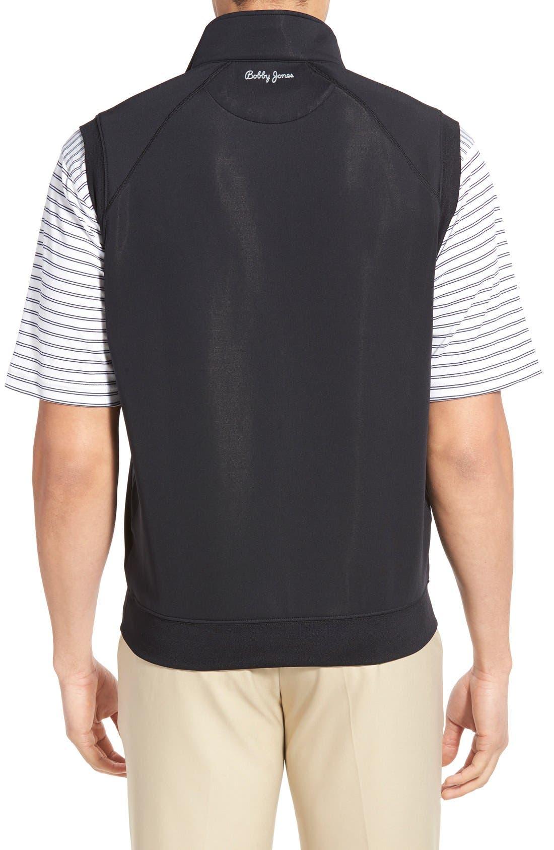 XH2O Crawford Stretch Quarter Zip Golf Vest,                             Alternate thumbnail 2, color,                             001