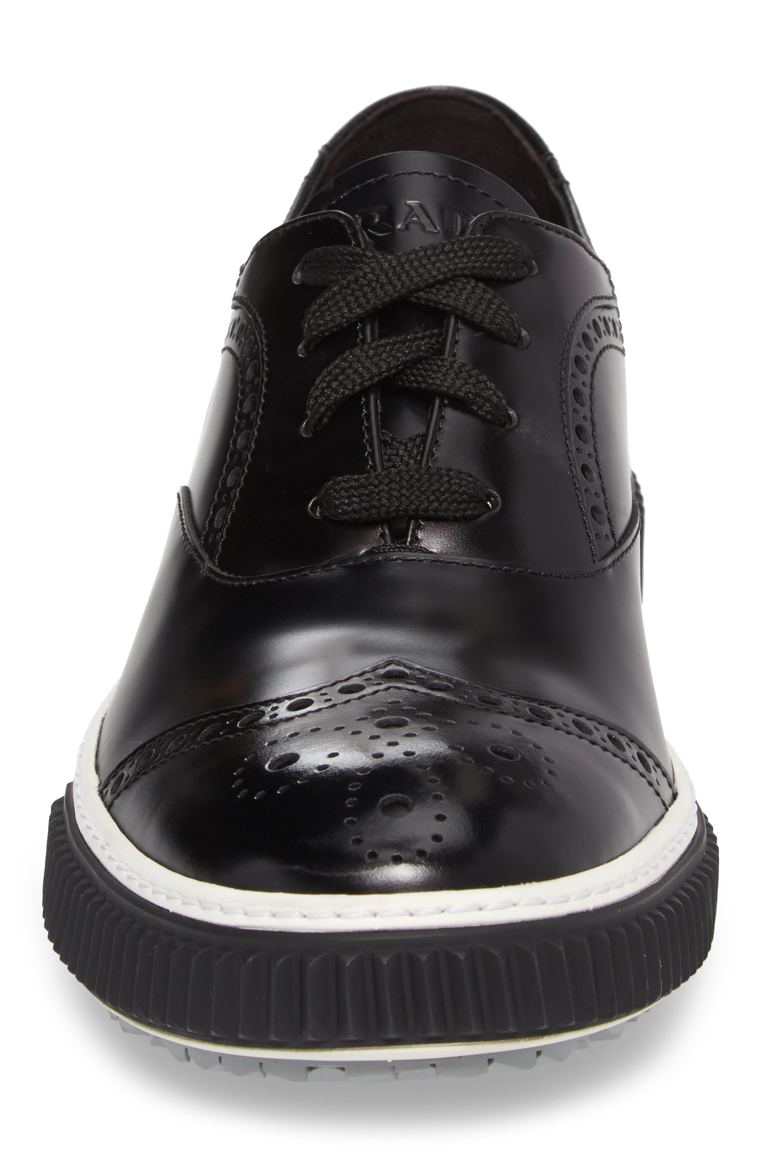 Linea Rossa Wingtip Sneaker,                             Alternate thumbnail 4, color,                             002