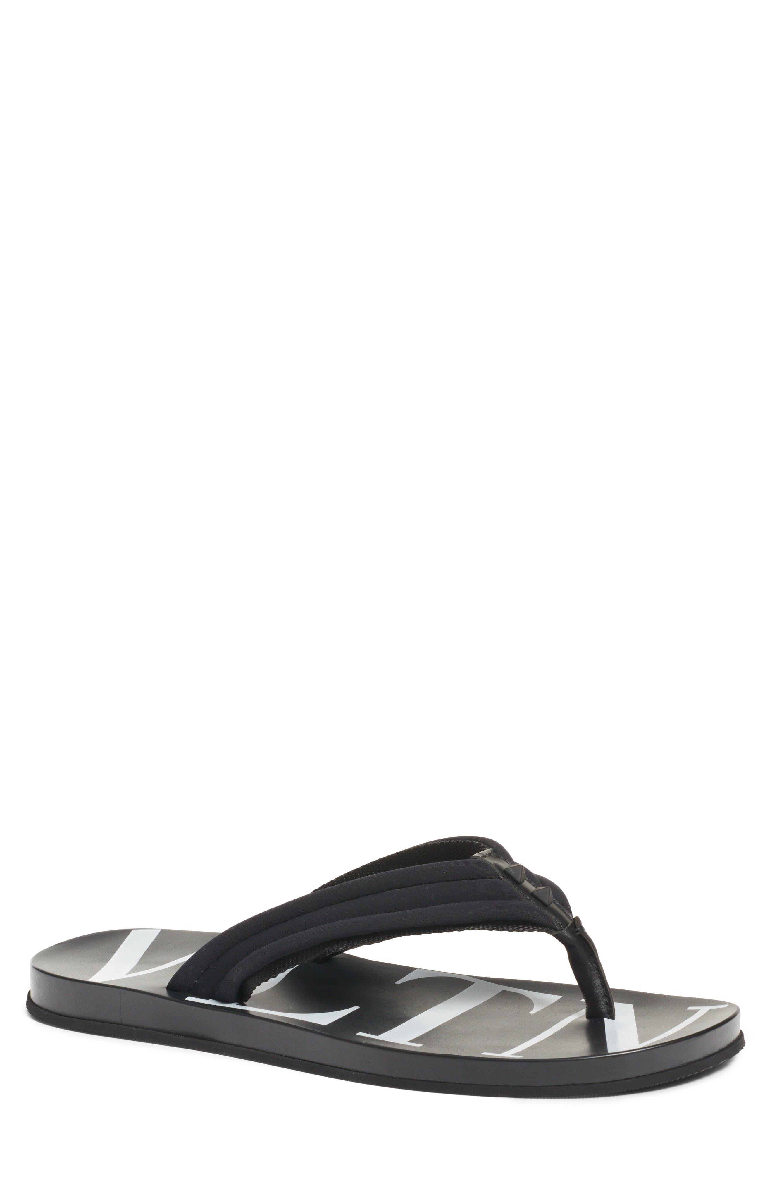Sandal,                             Main thumbnail 1, color,                             BLACK/ WHITE