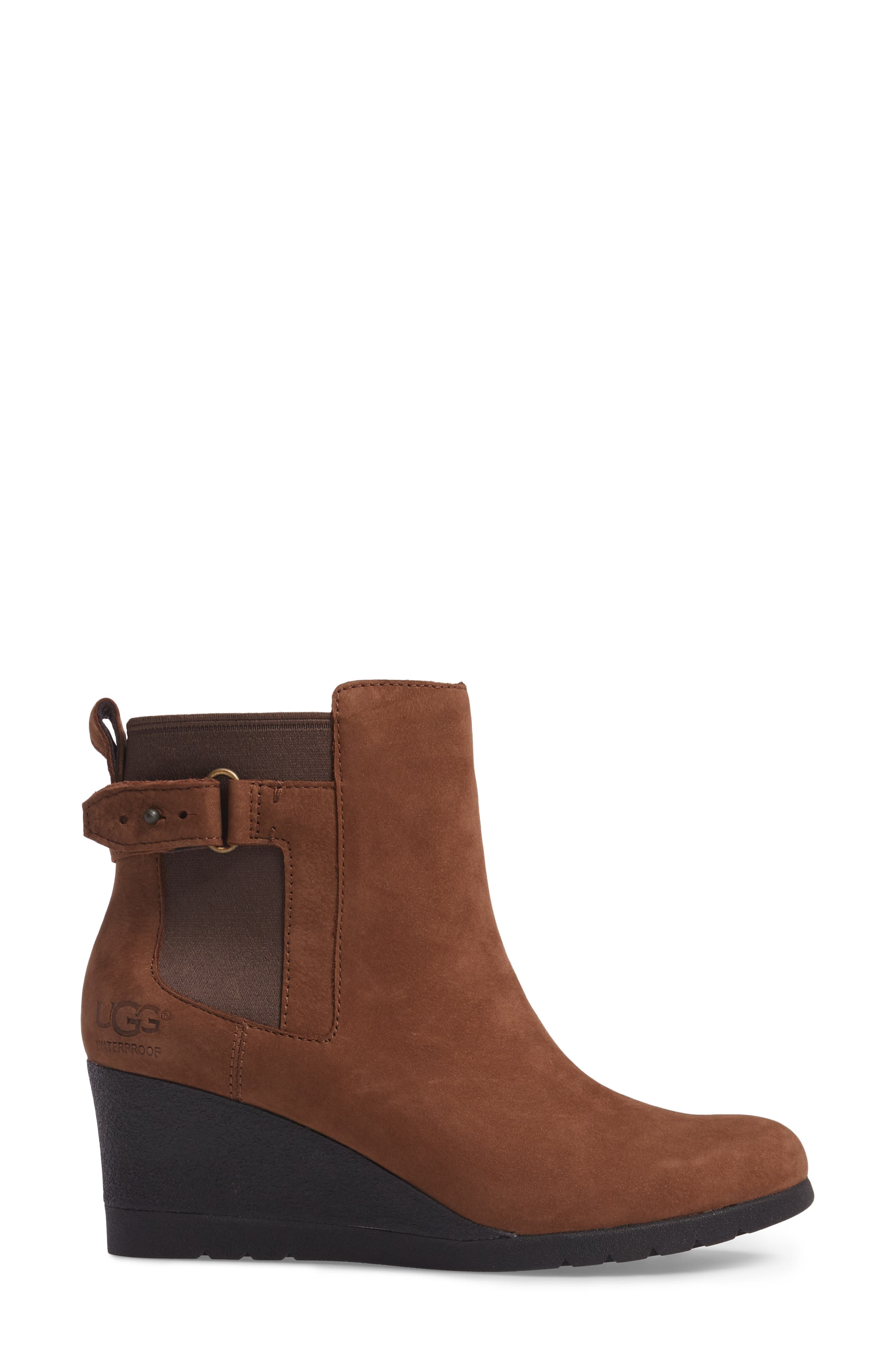 Waterproof Insulated Wedge Boot,                             Alternate thumbnail 3, color,                             STOUT LEATHER