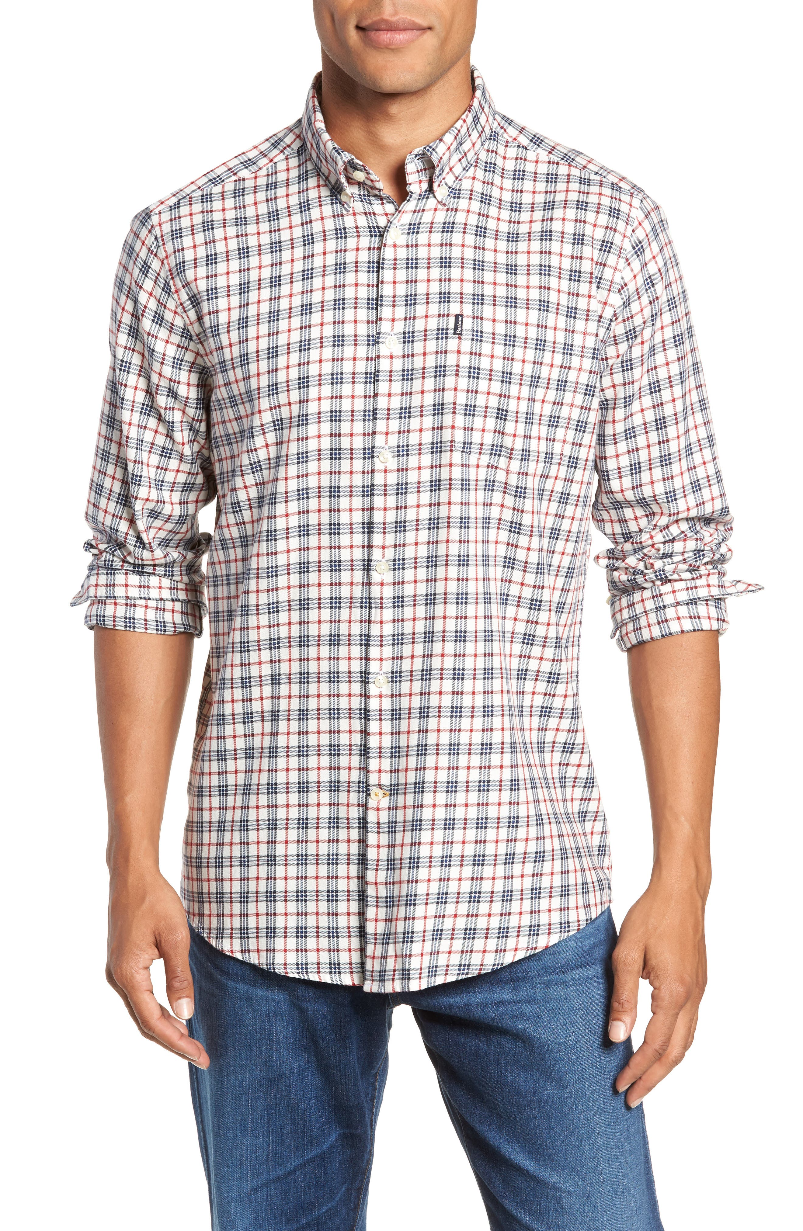 Stapleton Country Check Sport Shirt,                             Main thumbnail 1, color,                             100