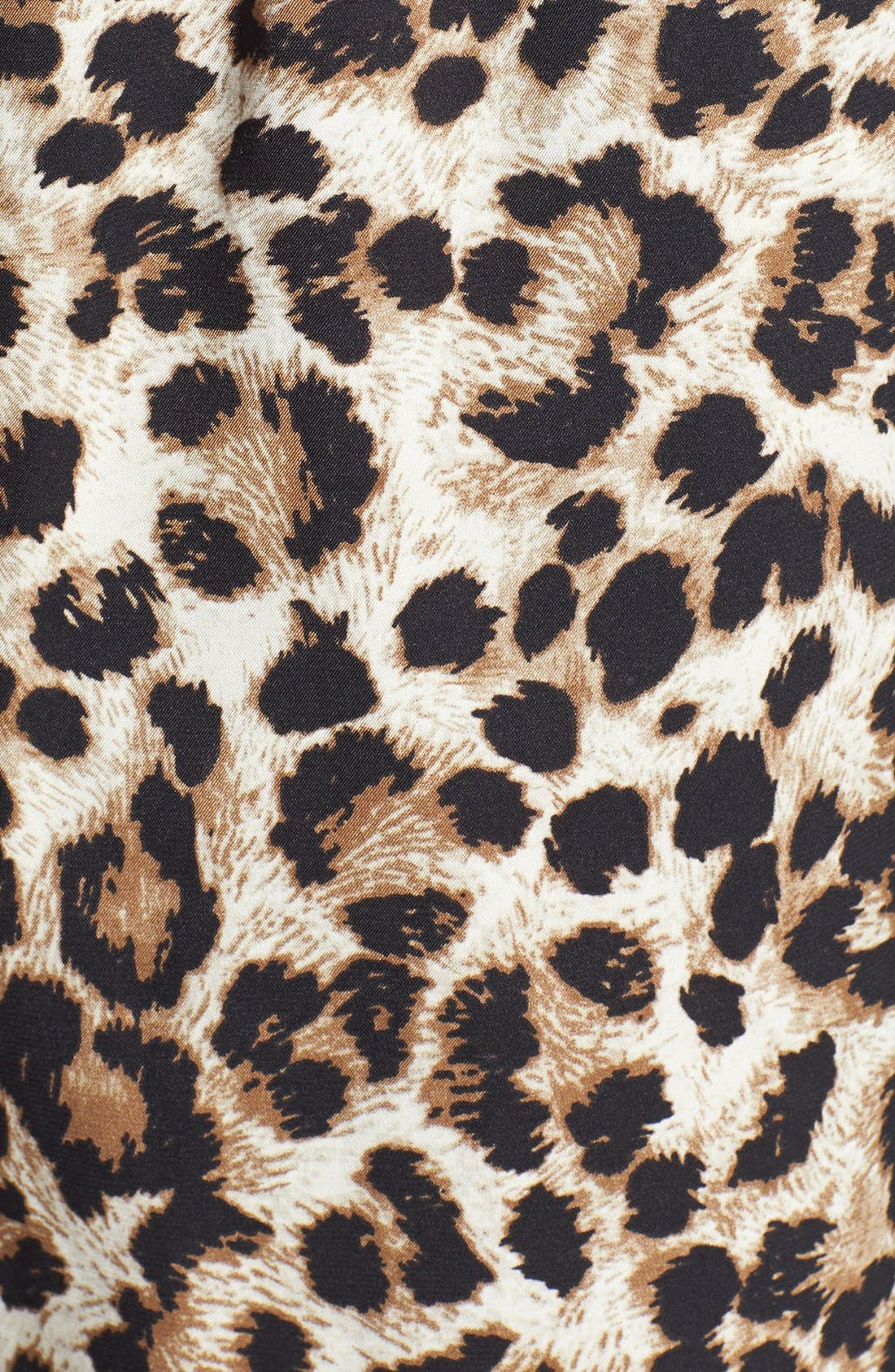 Leopard Print Drawstring Pants,                             Alternate thumbnail 3, color,                             001