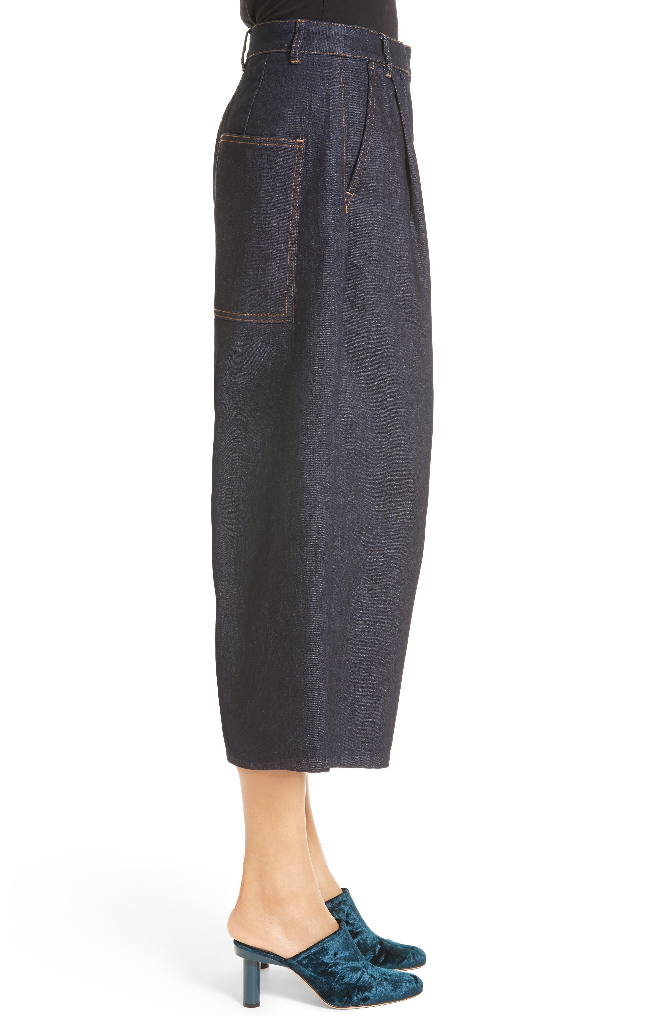 Sam High Waist Culotte Jeans,                             Alternate thumbnail 3, color,                             401