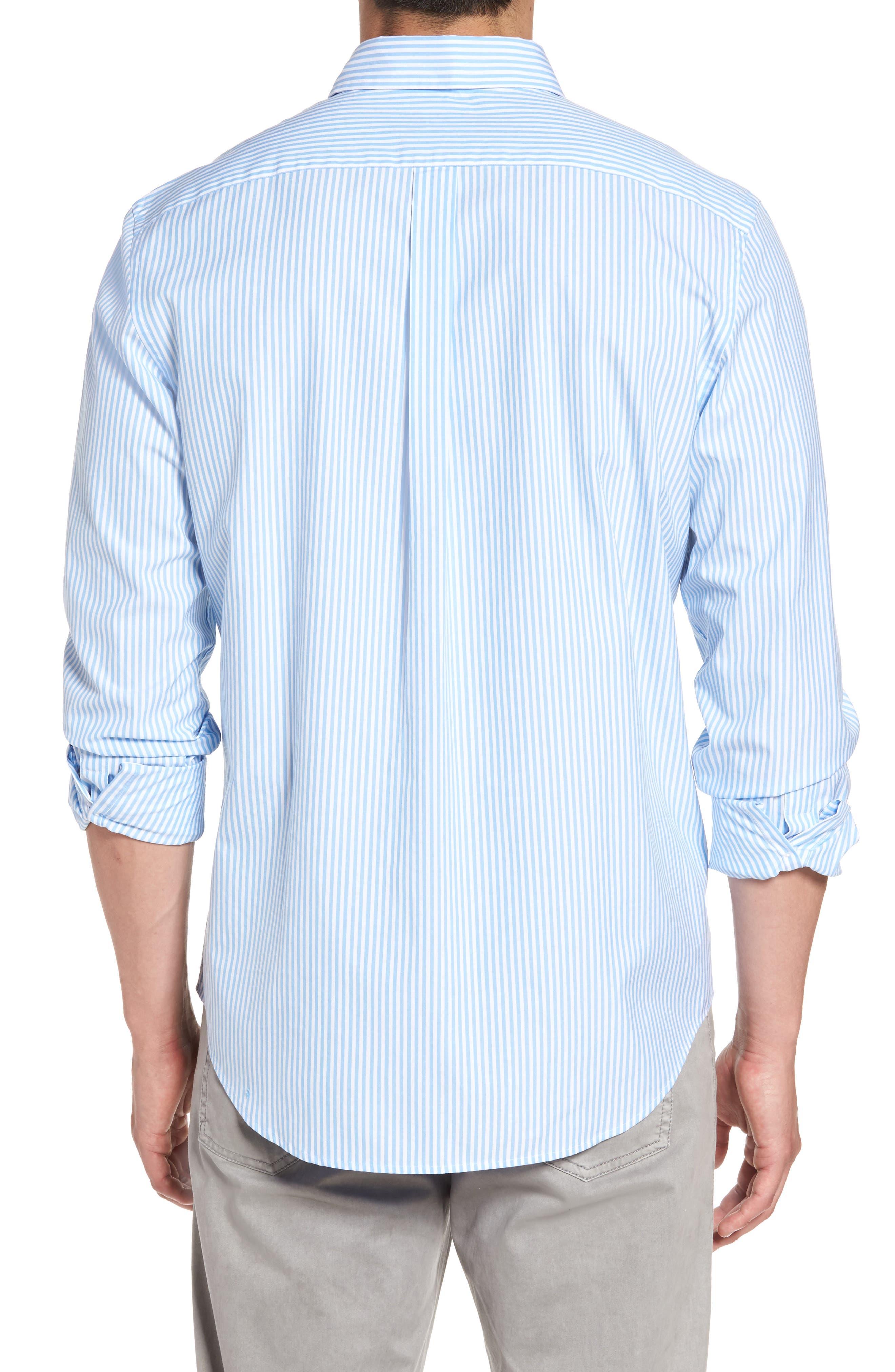 Swordfish Stripe Tucker Sport Shirt,                             Alternate thumbnail 2, color,