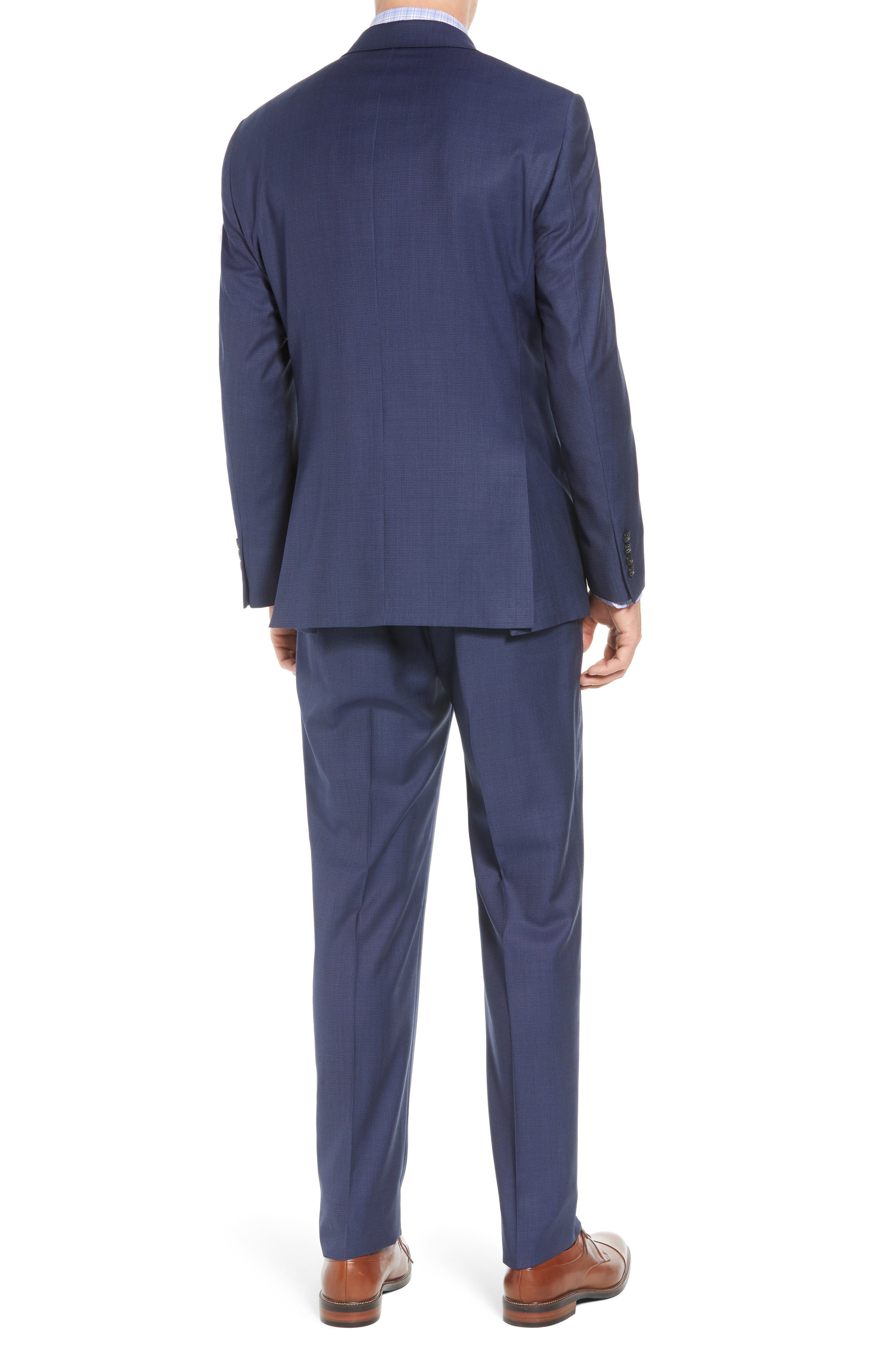 New York Classic Fit Check Wool Suit,                             Alternate thumbnail 2, color,                             MED BLUE