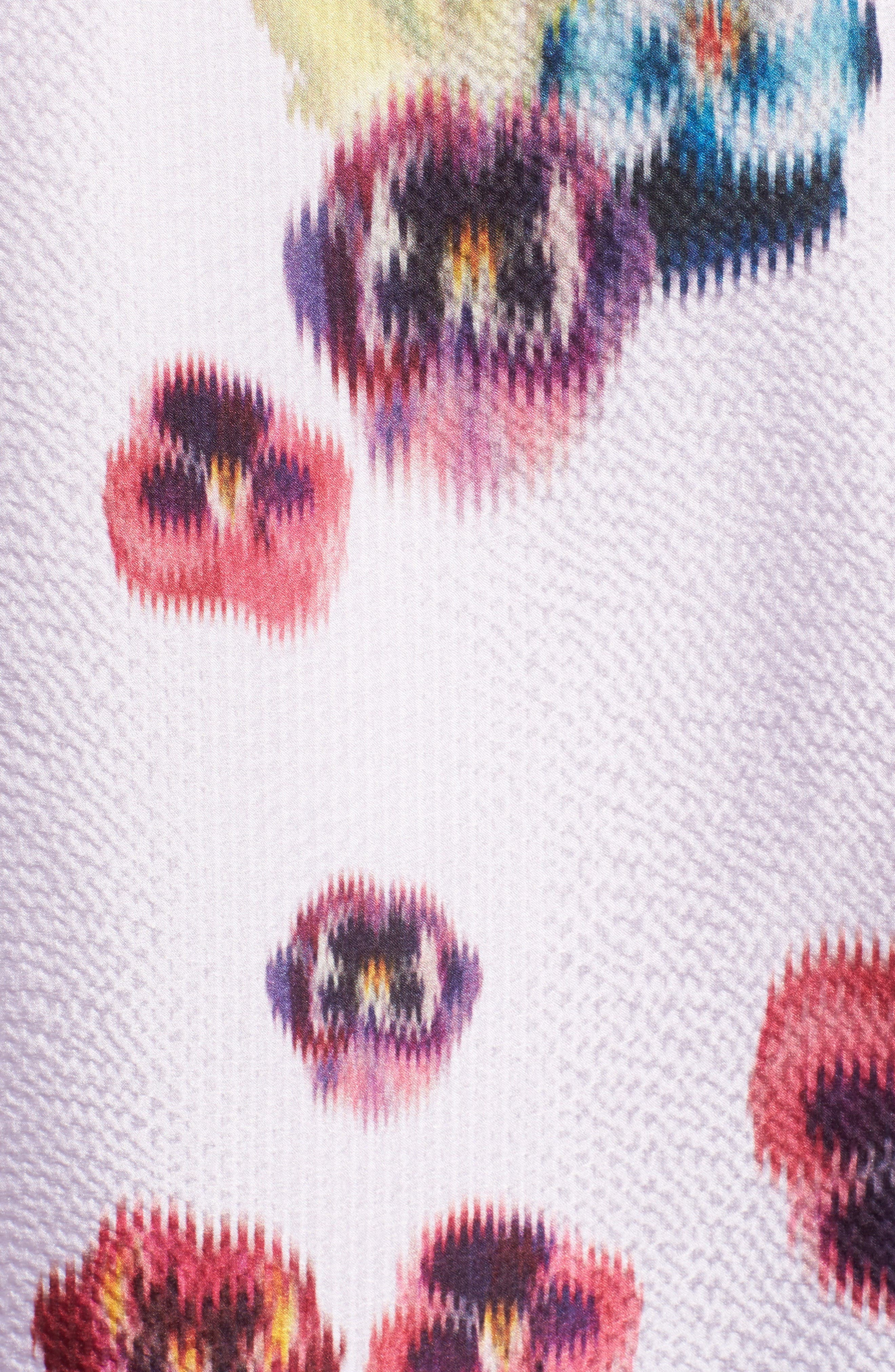 Ellila Expressive Pansy Floral Cape Scarf,                             Alternate thumbnail 5, color,                             672