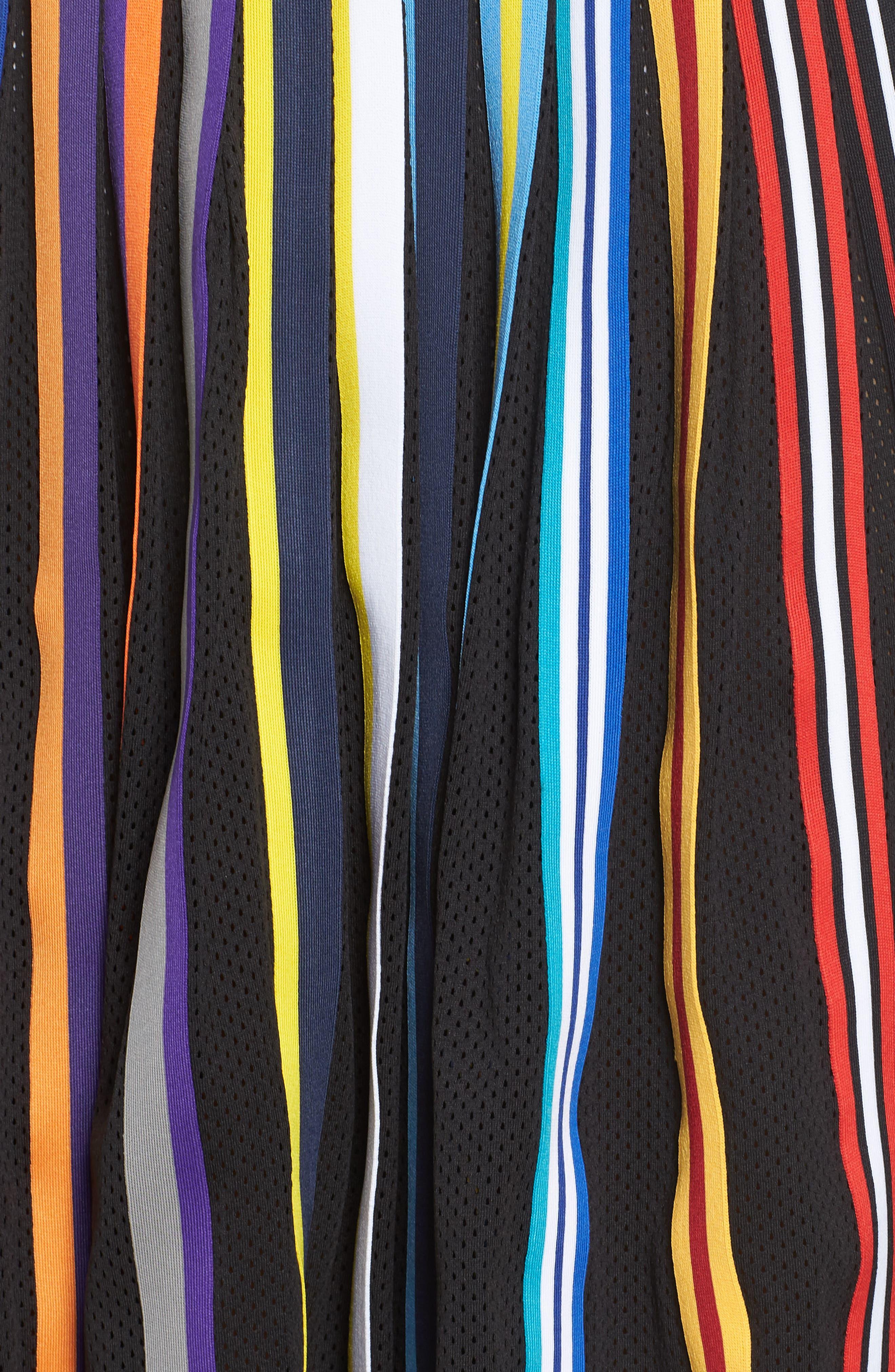 NikeLab Basketball Stripe Skirt,                             Alternate thumbnail 6, color,                             BLACK