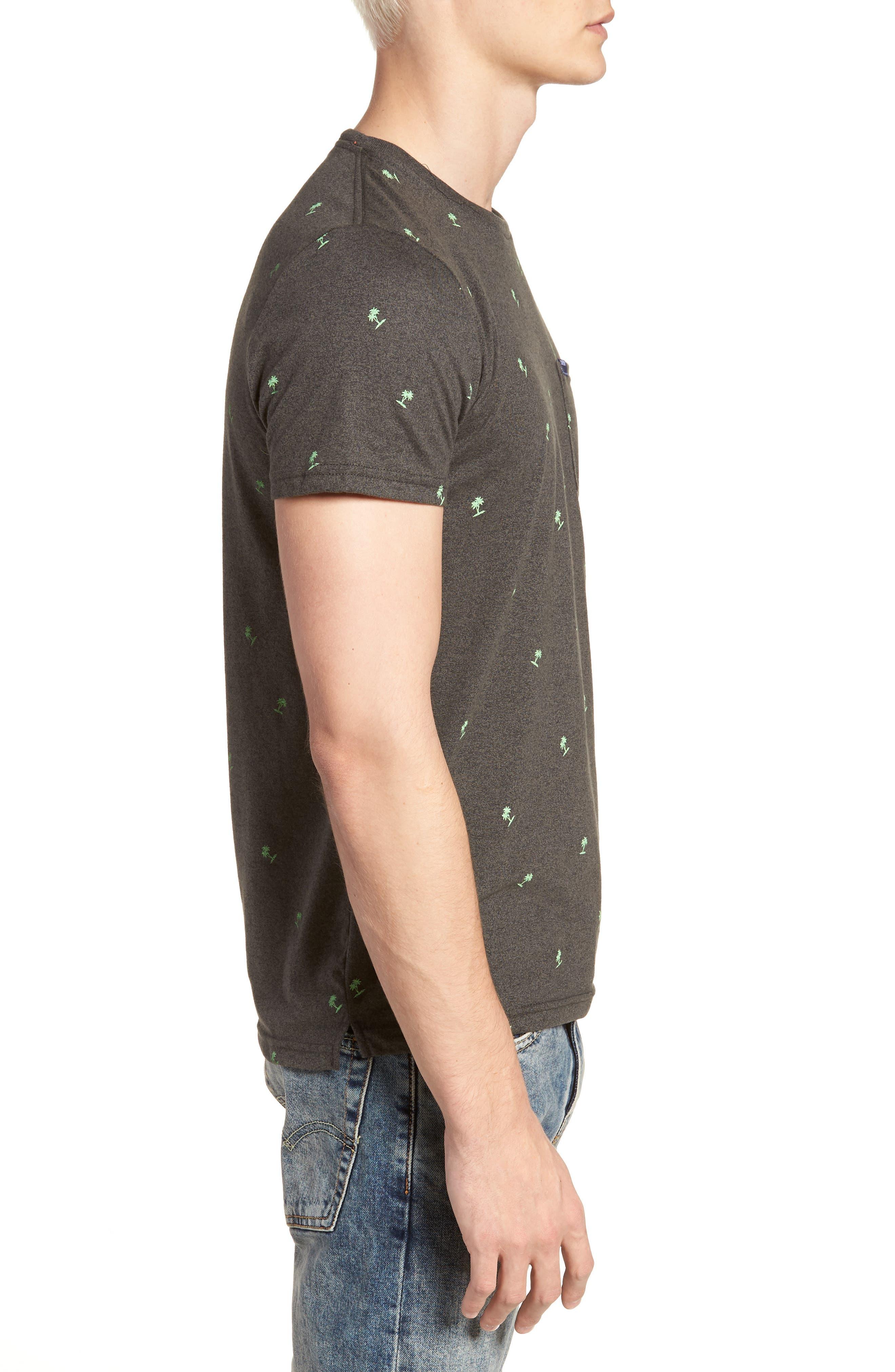 Allover Print Lite Pocket T-Shirt,                             Alternate thumbnail 3, color,                             020