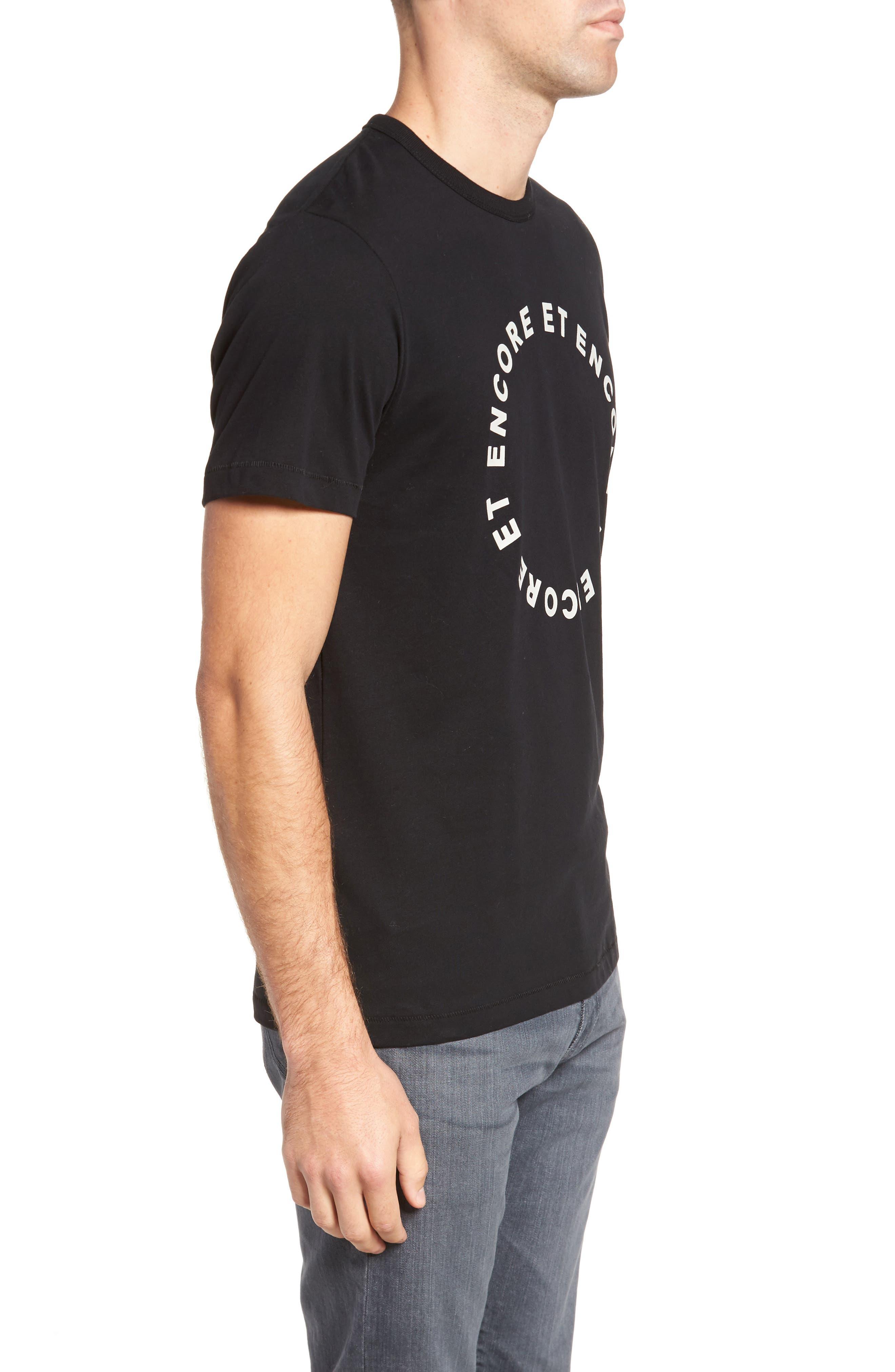 Encore Et Encore Regular Fit T-Shirt,                             Alternate thumbnail 3, color,                             001