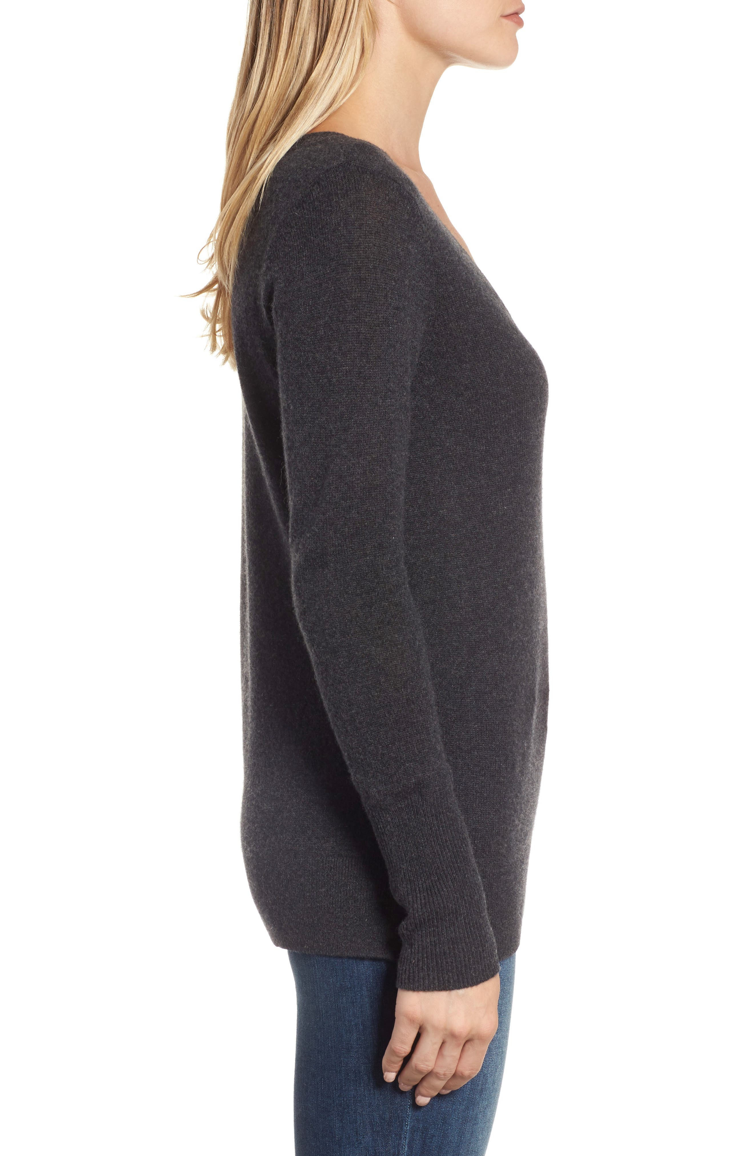 V-Neck Cashmere Sweater,                             Alternate thumbnail 49, color,