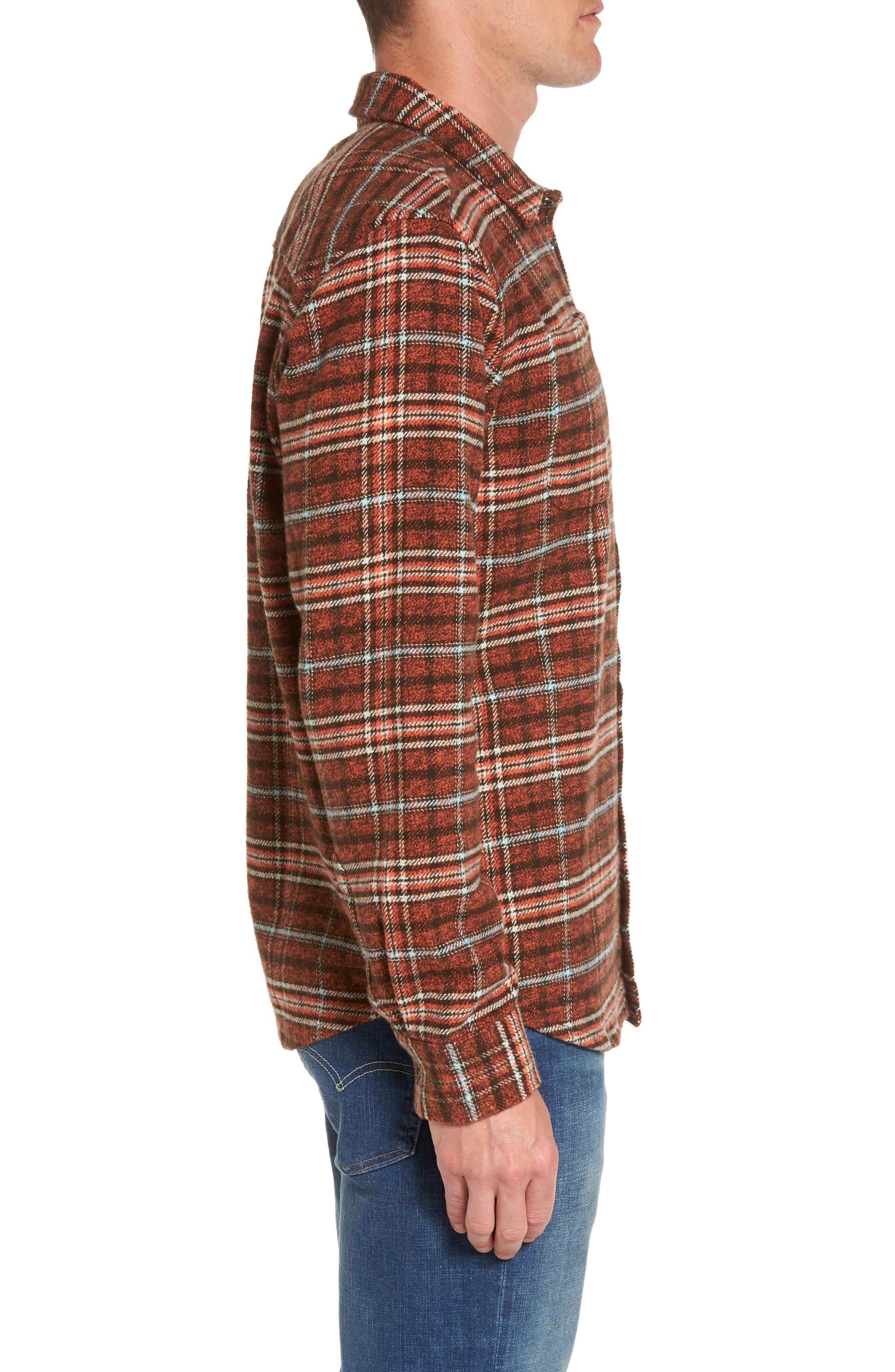 Brayden Regular Fit Plaid Flannel Shirt,                             Alternate thumbnail 6, color,