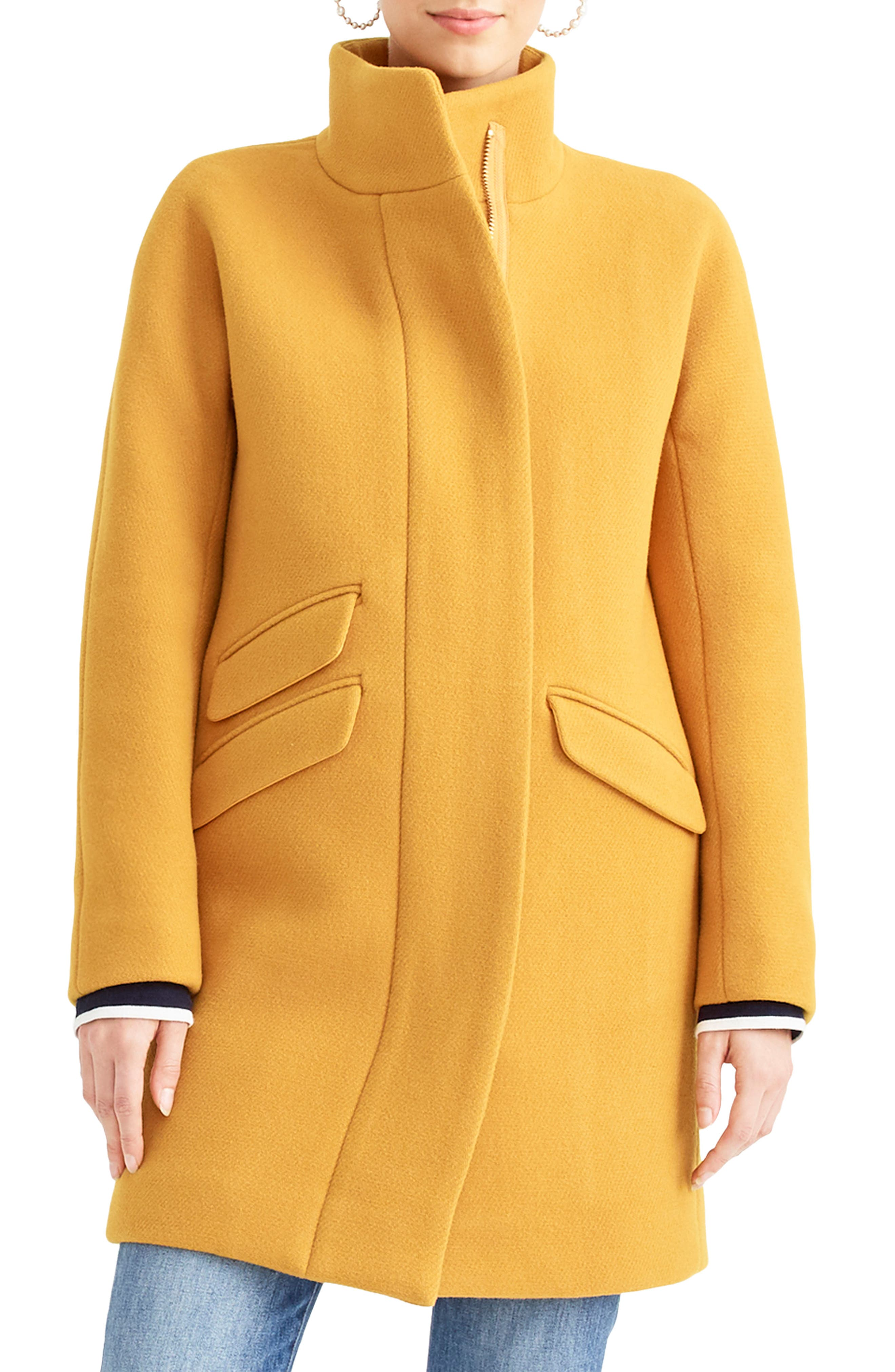 Stadium Cloth Cocoon Coat,                             Main thumbnail 1, color,                             AMBER SUNSET