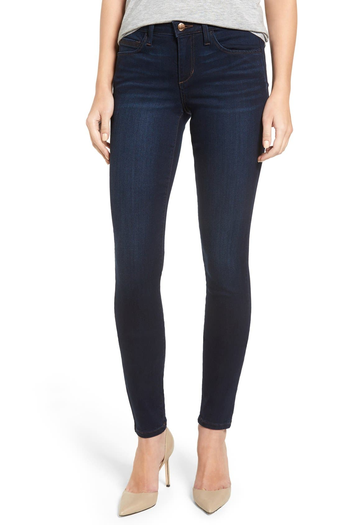 'Flawless - Honey' Curvy Skinny Jeans, Main, color, SELMA
