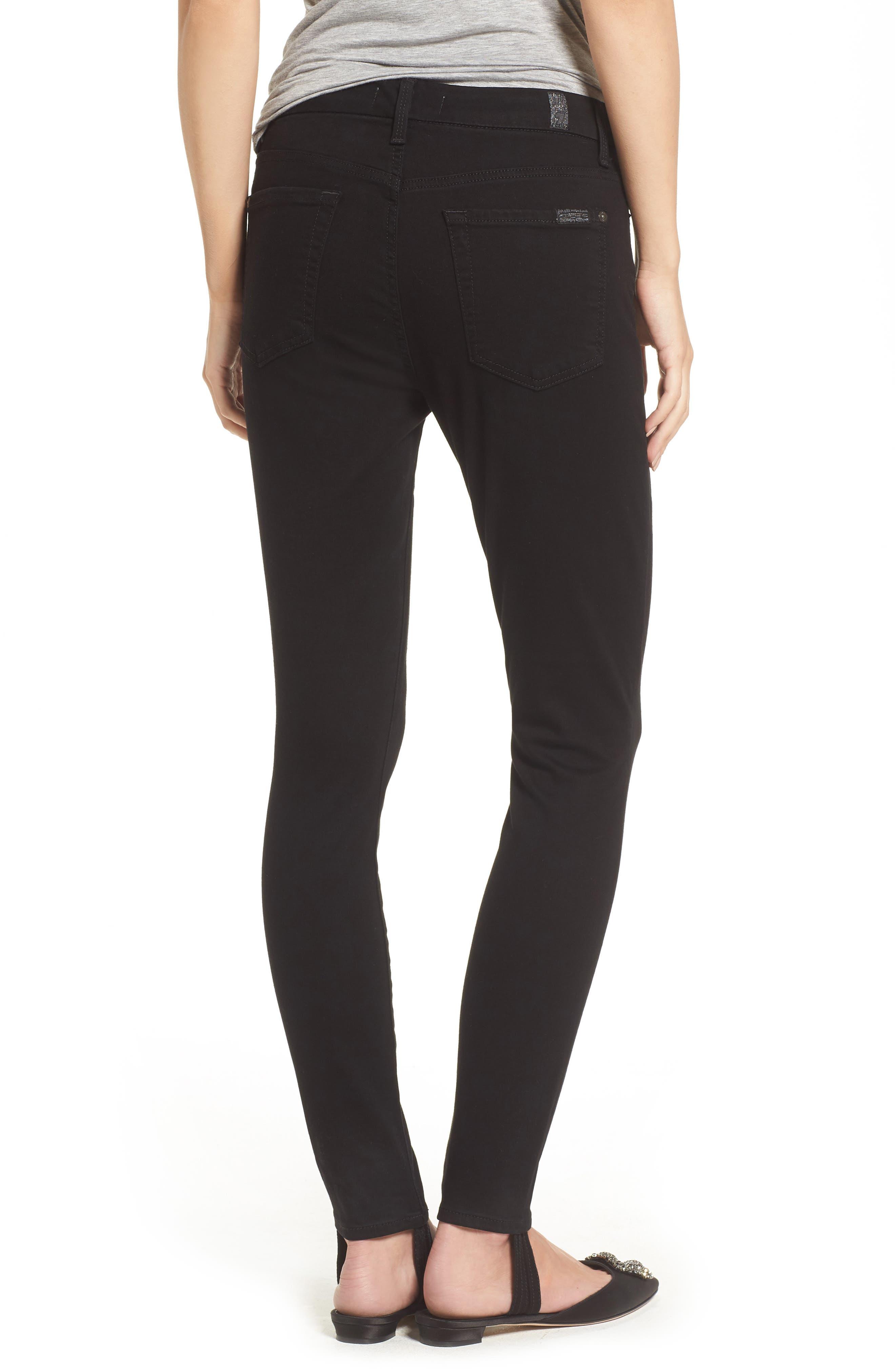 b(air) High Waist Ankle Skinny Stirrup Jeans,                             Alternate thumbnail 2, color,                             004