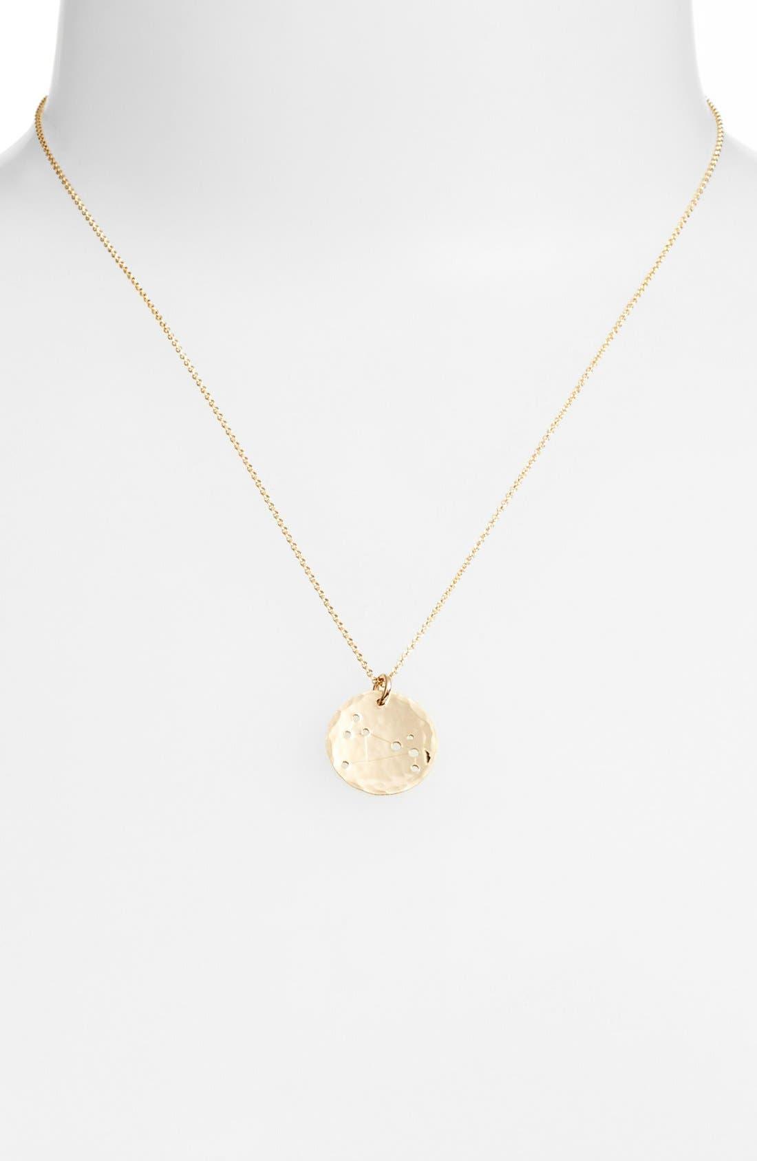 Ija 'Small Zodiac' 14k-Gold Fill Necklace,                             Alternate thumbnail 13, color,