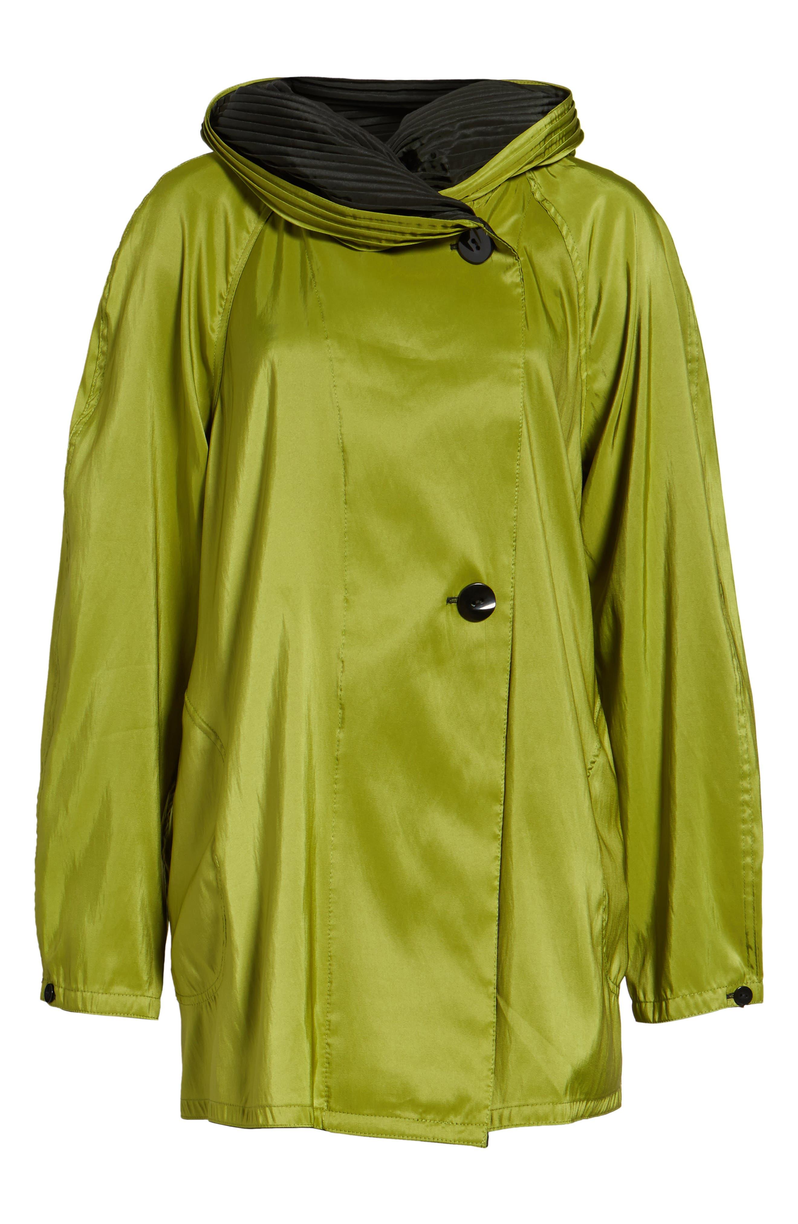 'Mini Donatella' Reversible Pleat Hood Packable Travel Coat,                             Alternate thumbnail 5, color,                             316