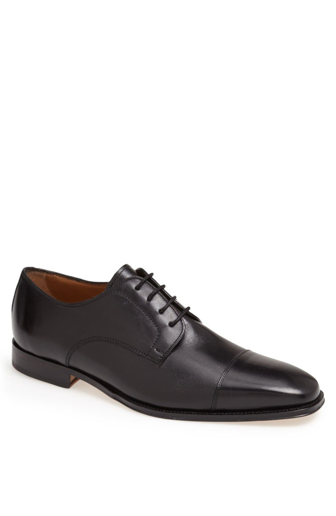 Classico Cap Toe Oxford,                         Main,                         color, BLACK