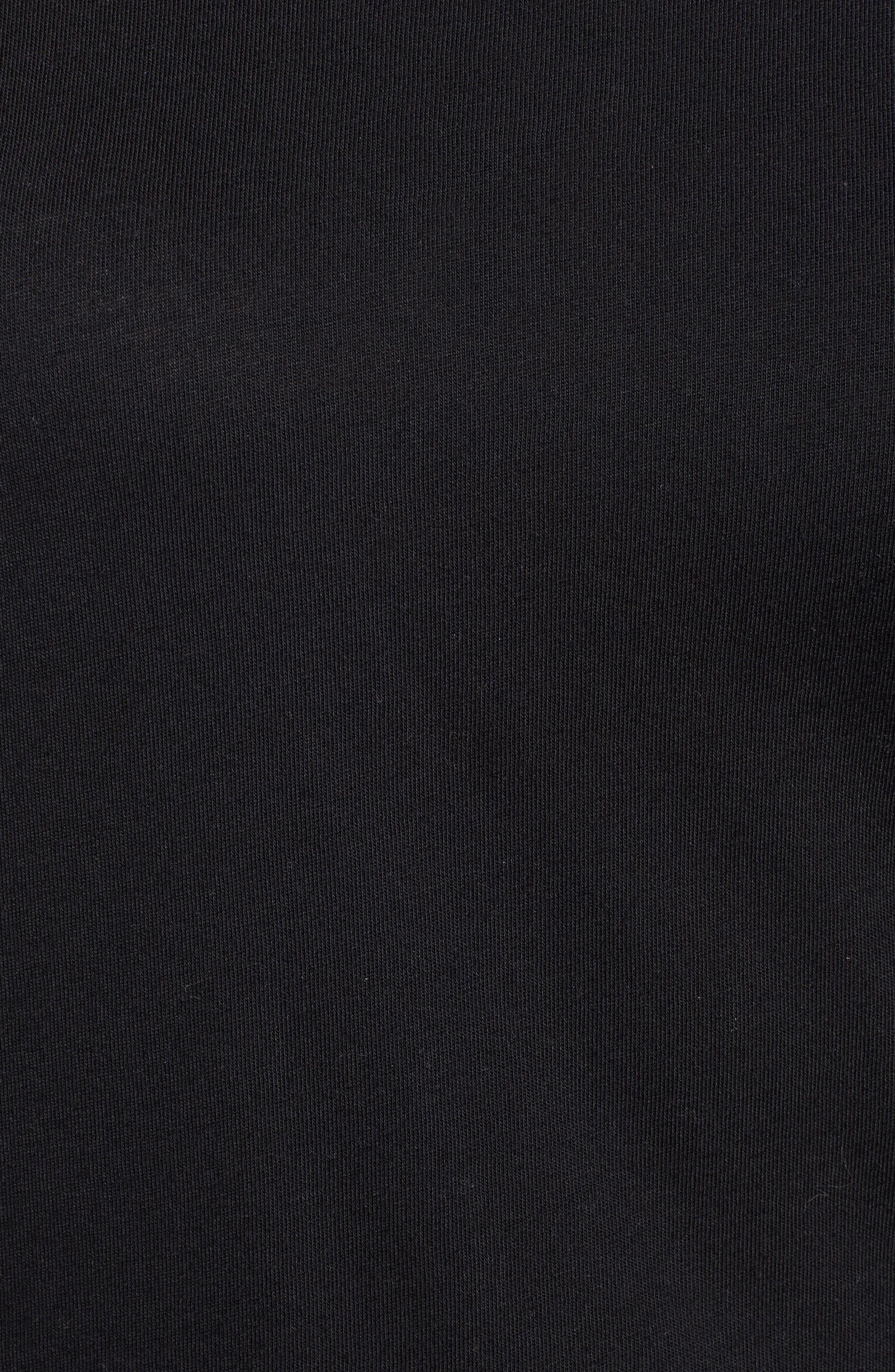 Long Sleeve Tee,                             Alternate thumbnail 5, color,                             BLACK