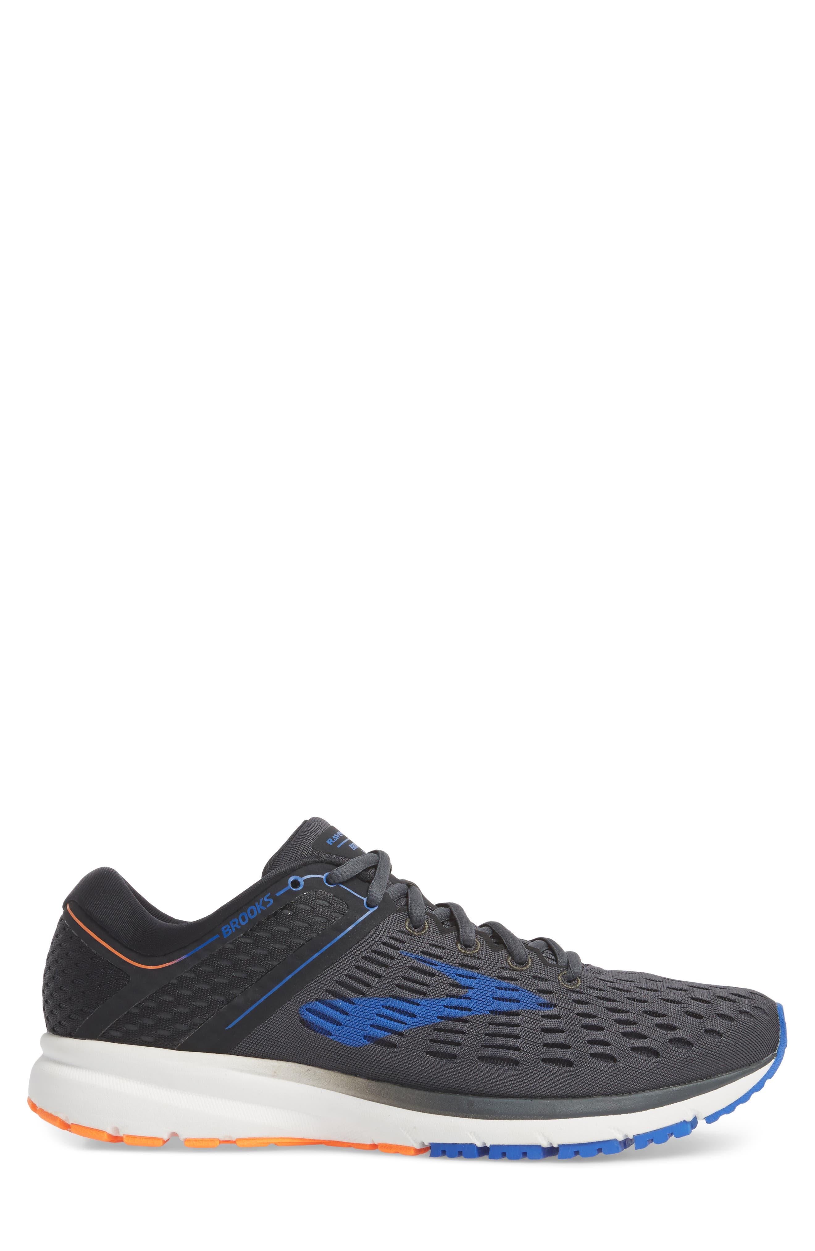 Ravenna 9 Running Shoe,                             Alternate thumbnail 3, color,                             EBONY/ BLUE/ ORANGE