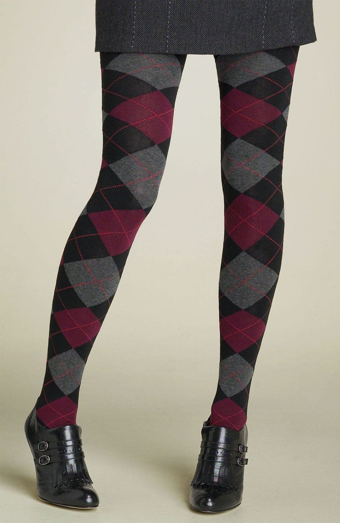 HUE Argyle Sweater Tights, Main, color, 001