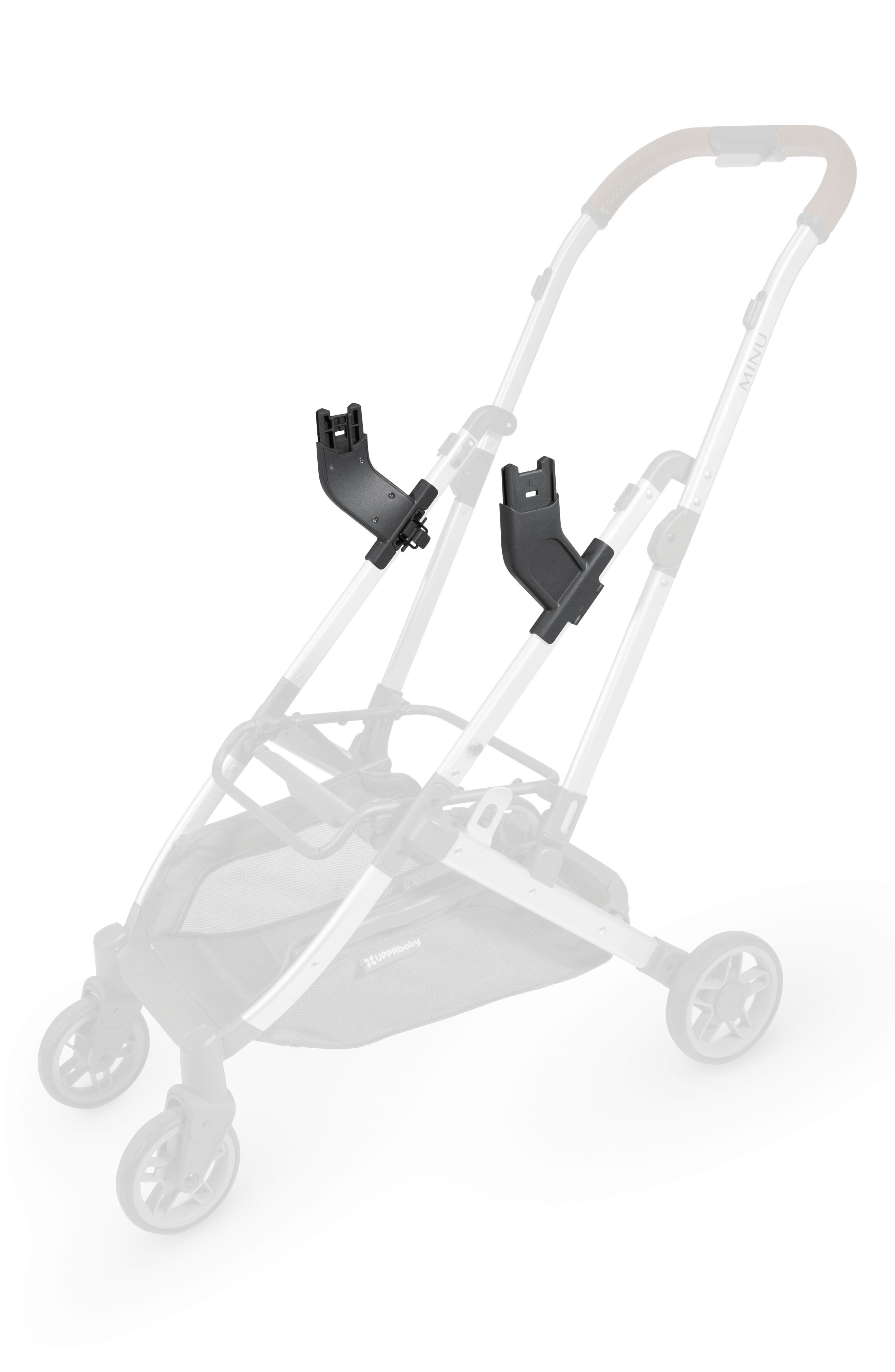 Minu Stroller to MESA Infant Car Seat Adapter,                             Main thumbnail 1, color,                             BLACK