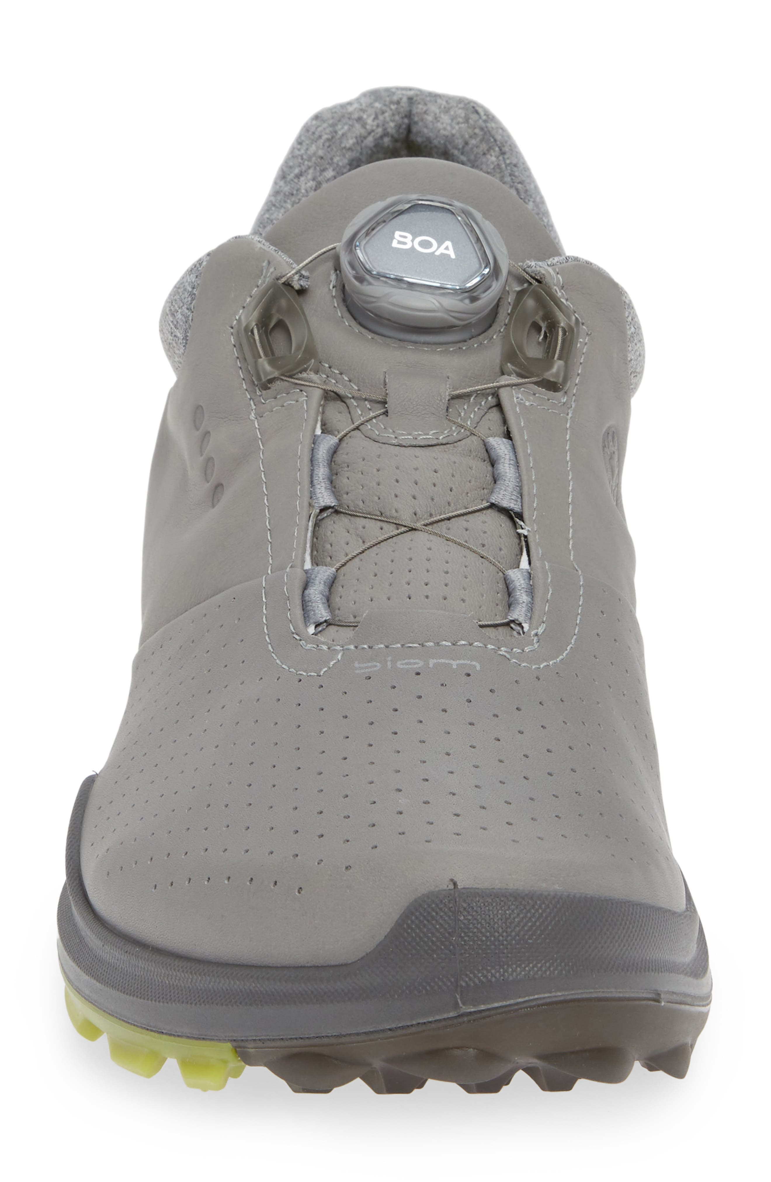 ECCO,                             BIOM Hybrid 3 Gore-Tex<sup>®</sup> Golf Shoe,                             Alternate thumbnail 4, color,                             WILD DOVE/ KIWI LEATHER