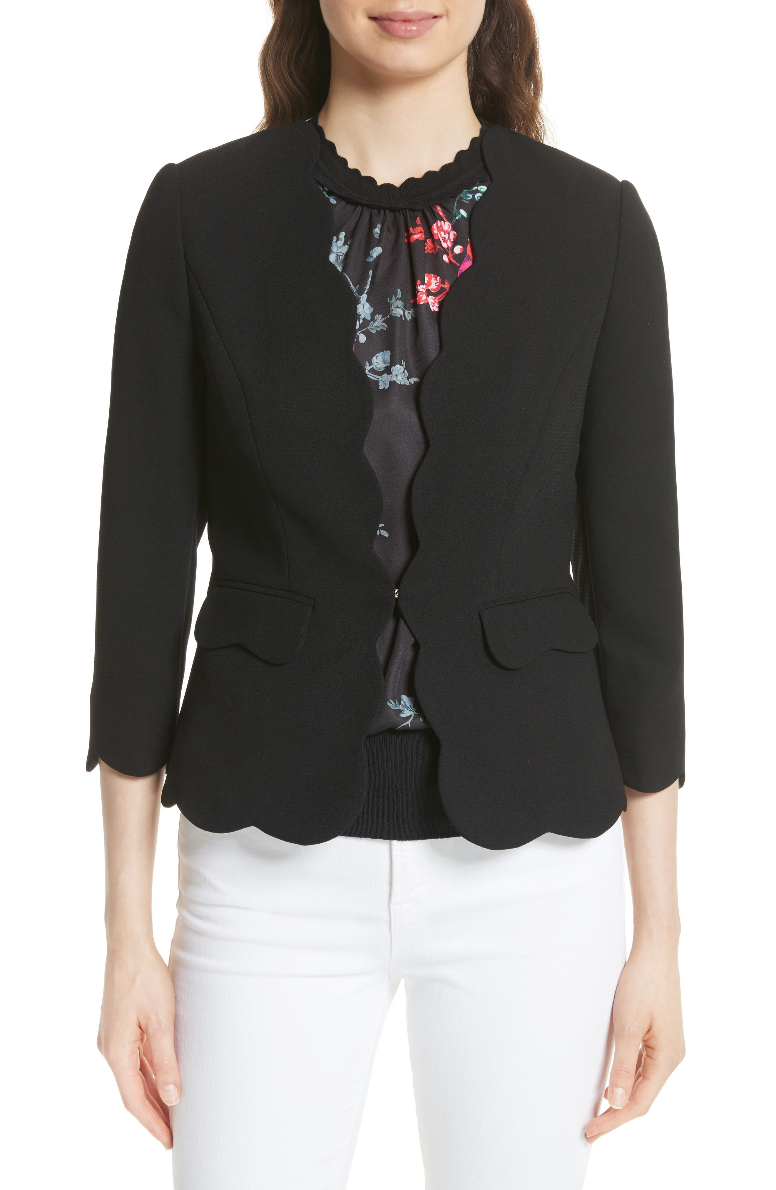 Scalloped Blazer,                         Main,                         color,