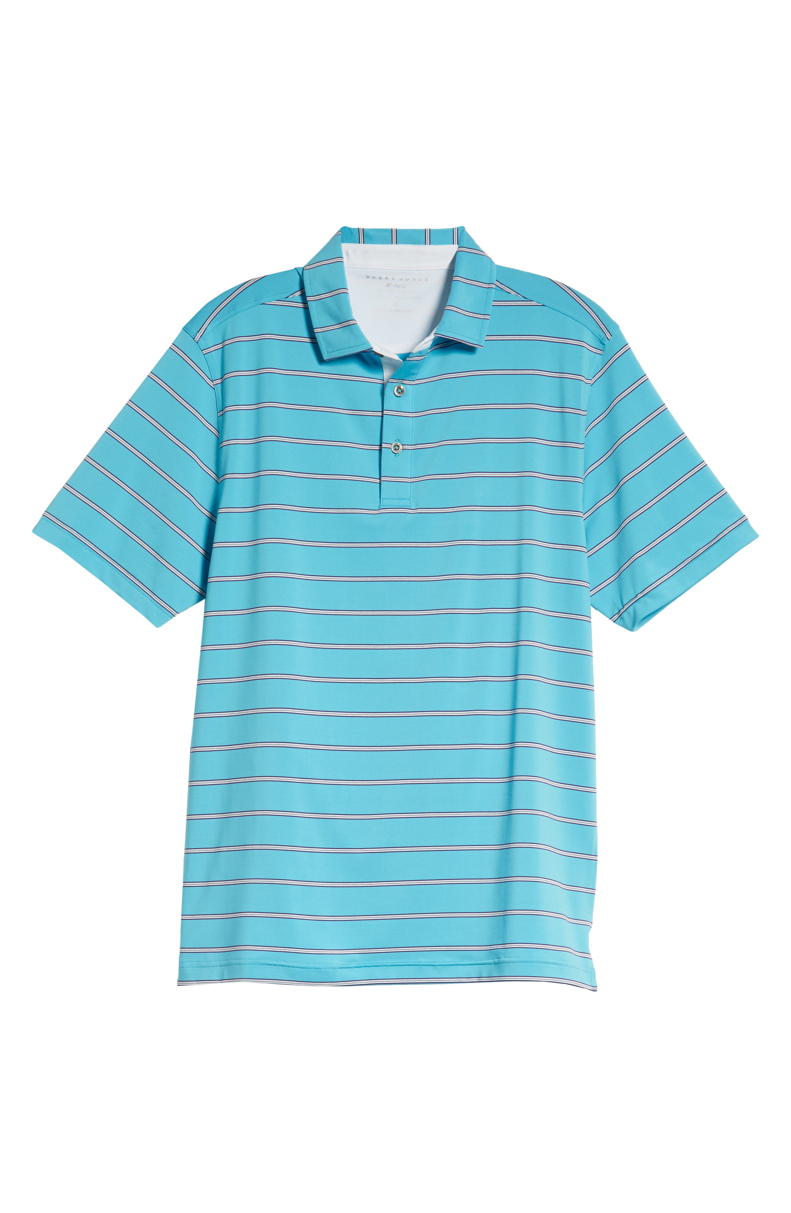 Ferry Stripe Classic Fit Golf Polo,                             Alternate thumbnail 6, color,                             BLUE