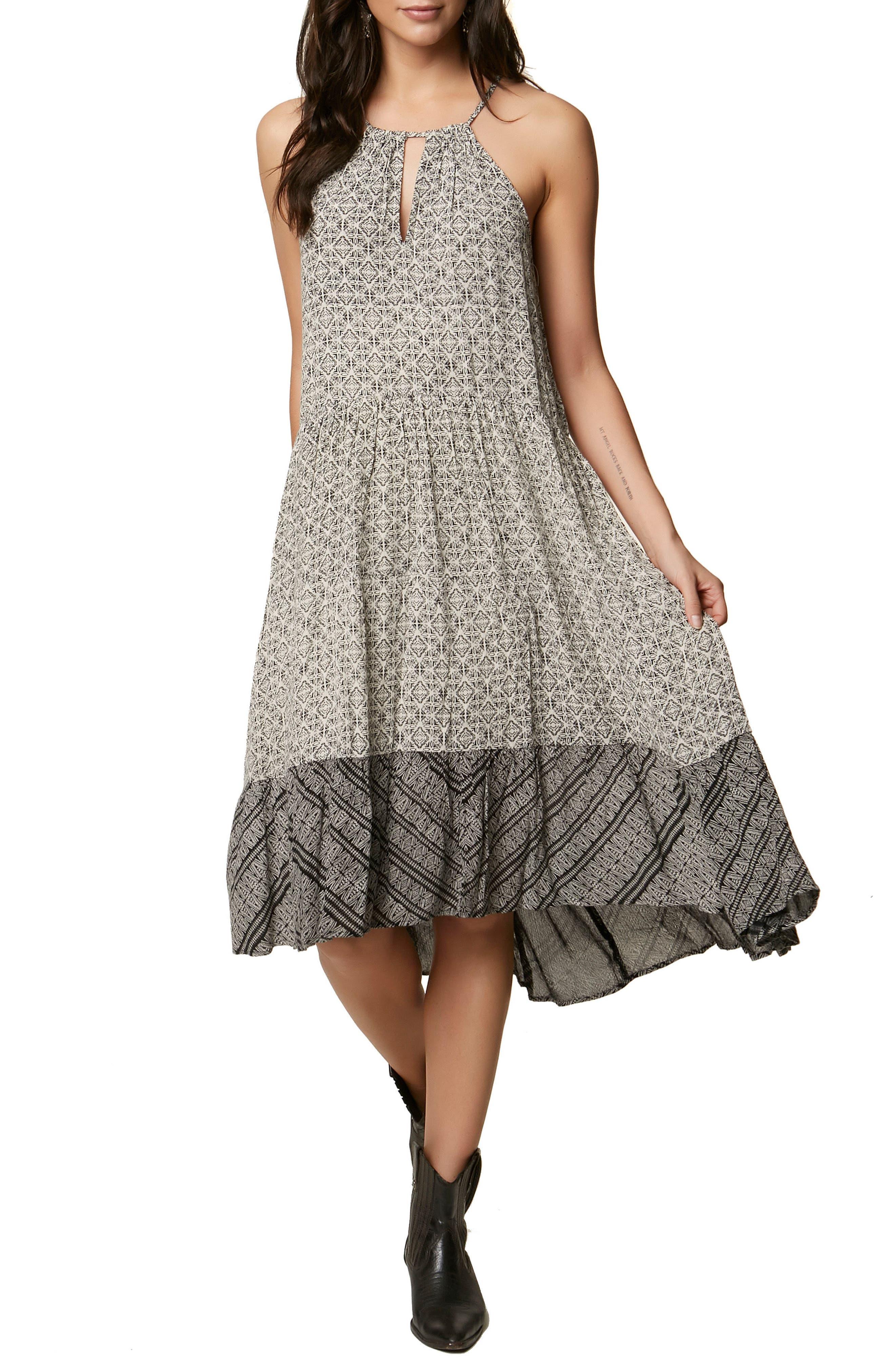 Carmela Halter Midi Dress,                             Main thumbnail 1, color,                             105
