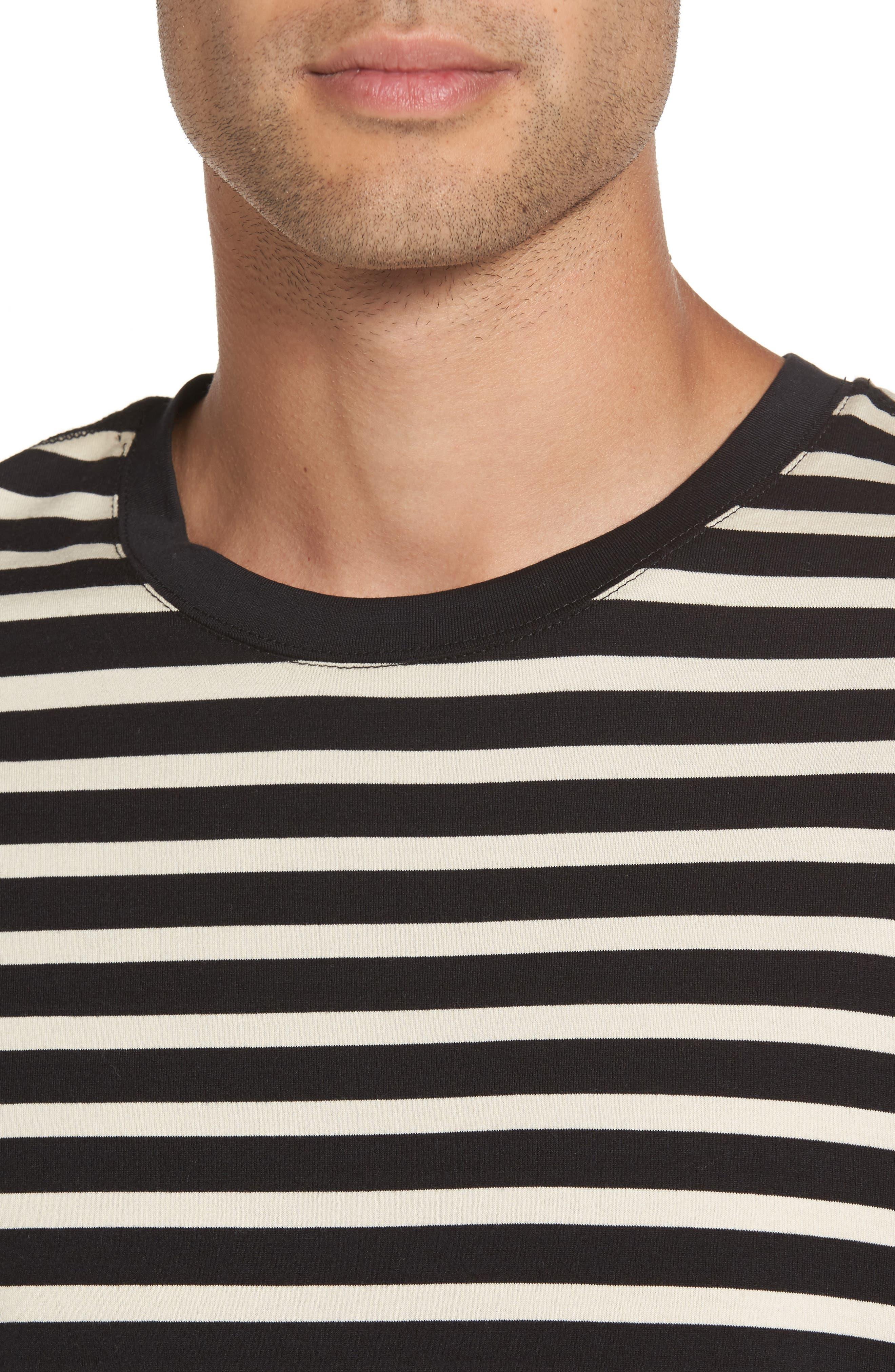 Stripe T-Shirt,                             Alternate thumbnail 4, color,                             004