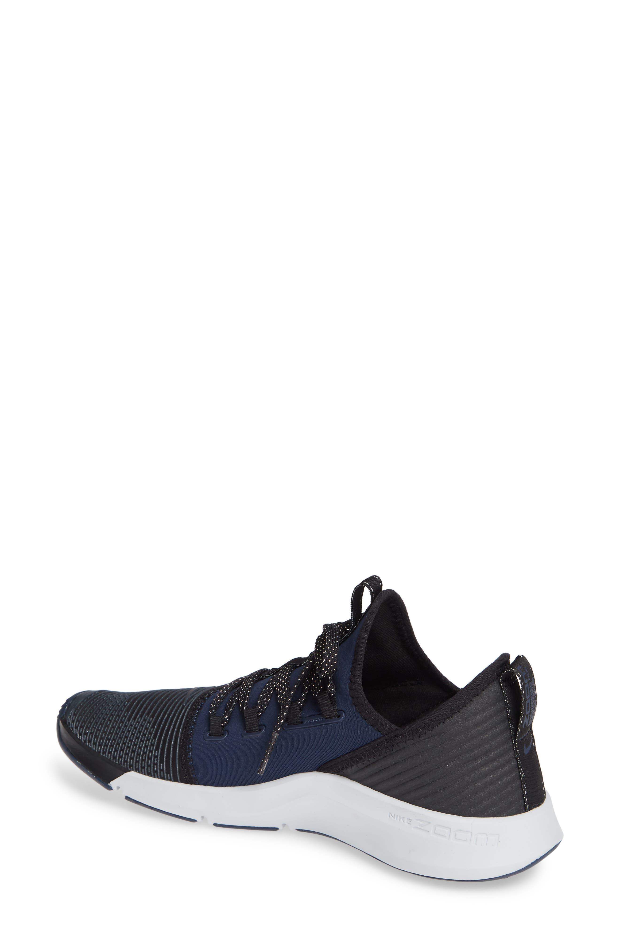 NIKE,                             Air Zoom Elevate Training Shoe,                             Alternate thumbnail 2, color,                             BLACK/ METALLIC NAVY- NAVY