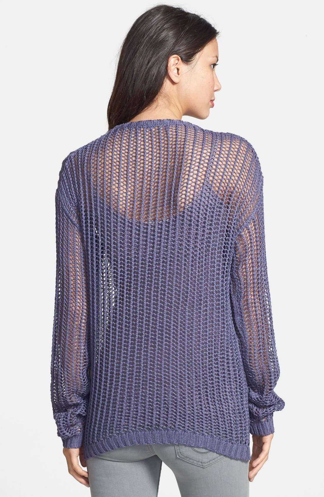 'Ultramarine' Open Stitch Sweater,                             Alternate thumbnail 3, color,                             400