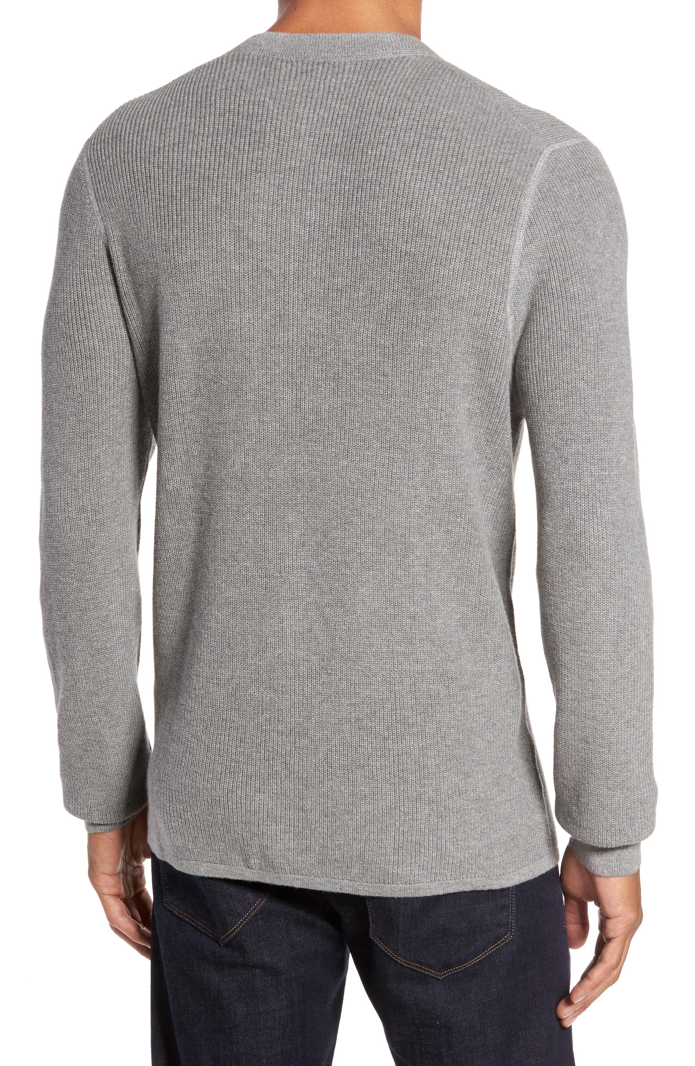 Cotton & Cashmere Henley Sweater,                             Alternate thumbnail 2, color,                             030