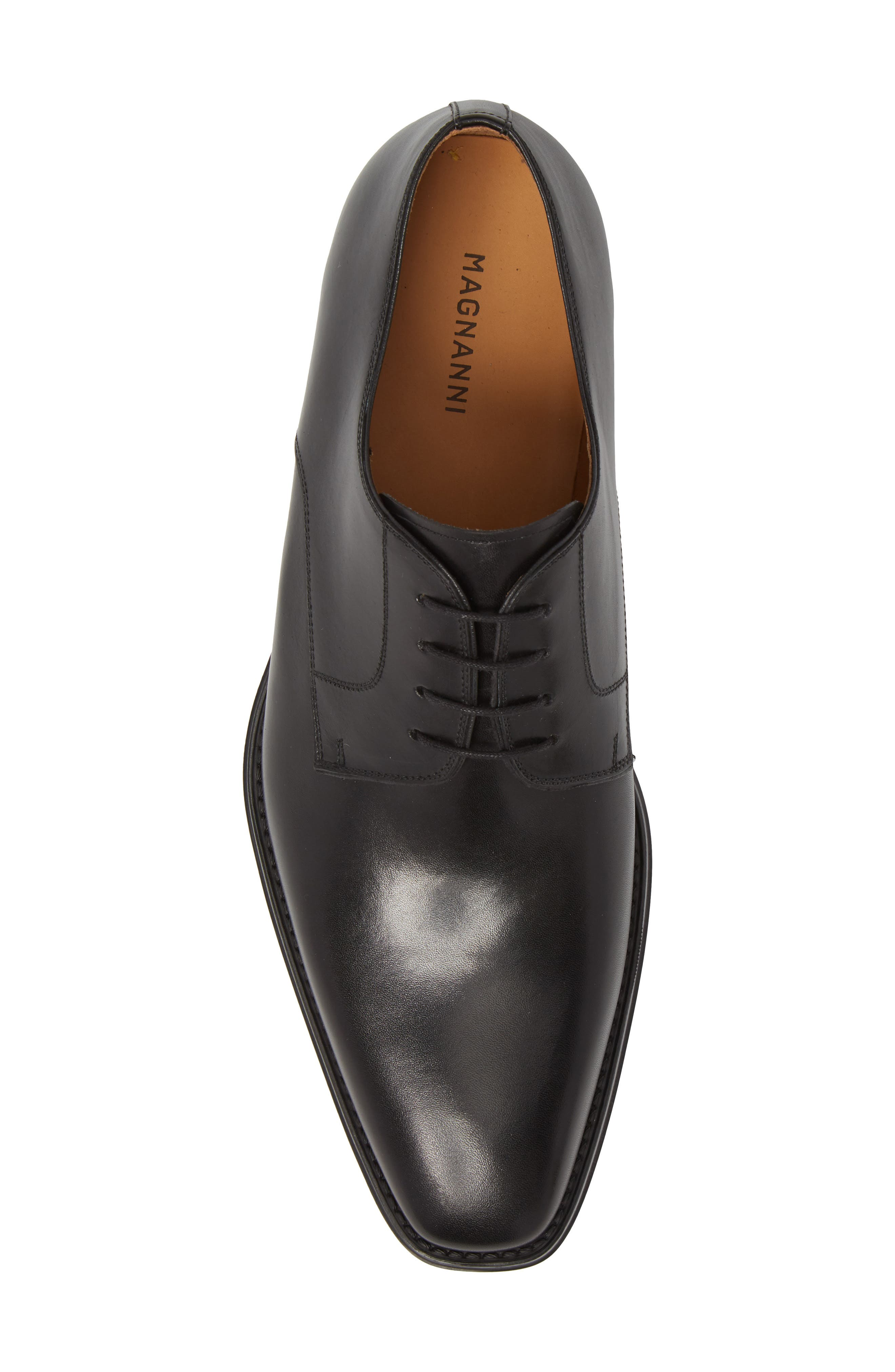 Colo II Plain Toe Derby,                             Alternate thumbnail 5, color,                             BLACK LEATHER
