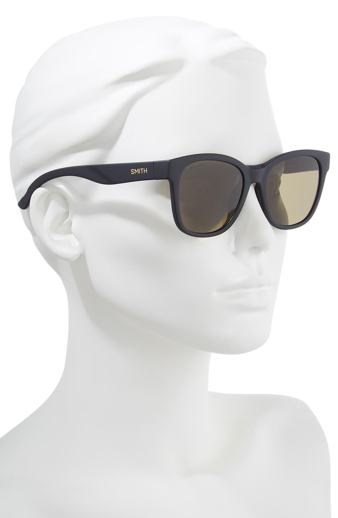 SMITH,                             Caper 53mm ChromaPop<sup>™</sup> Square Sunglasses,                             Alternate thumbnail 2, color,                             MATTE BLACK