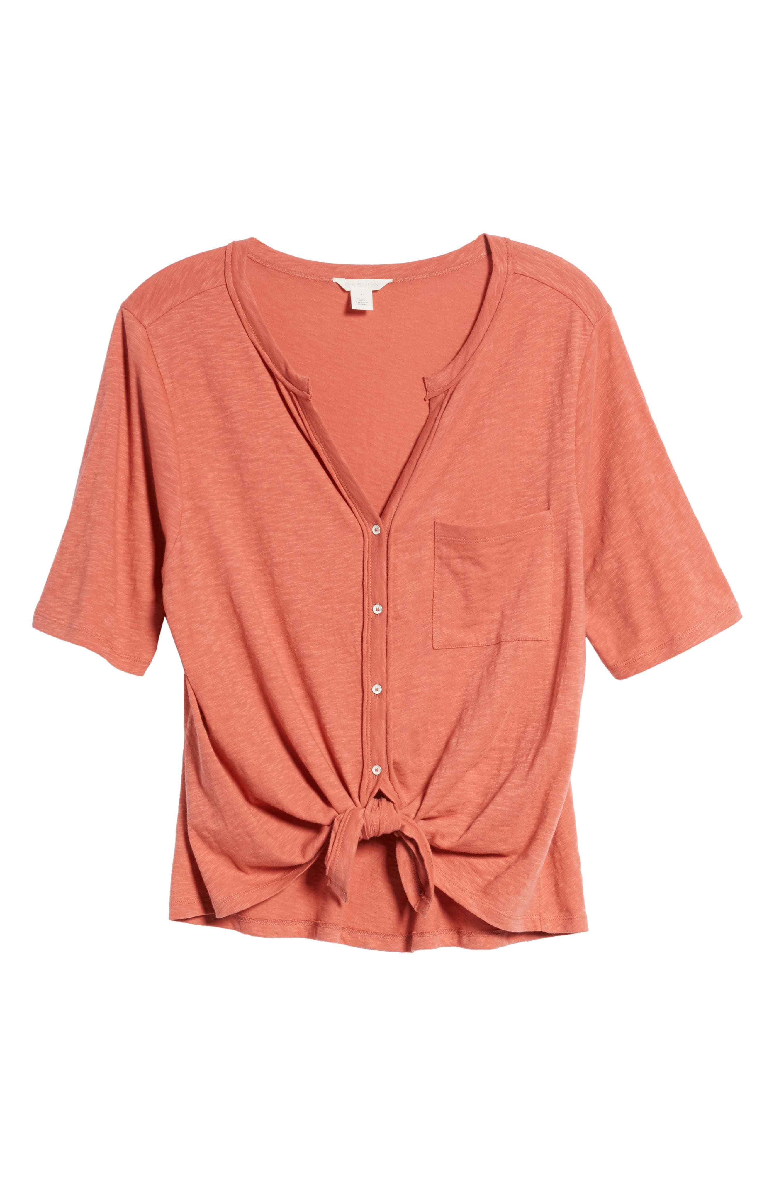 Tie Front Tee,                             Alternate thumbnail 7, color,                             951